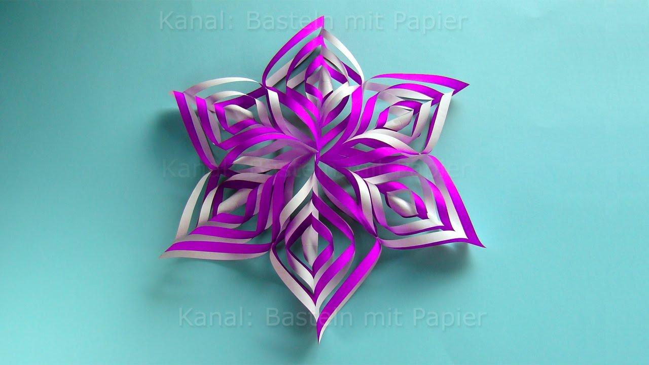 Make An Easy Paper Star - Christmas Crafts: Paper Snowflakes For Christmas  - 3D bestimmt für Sterne Basteln Weihnachten
