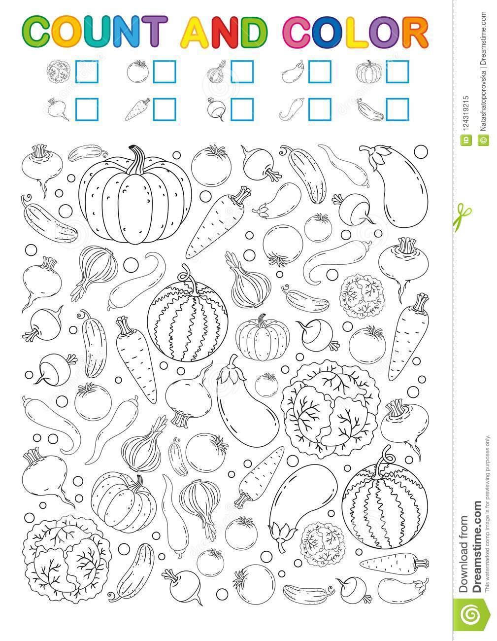 Malbuchseite Zählung Und Farbe Bedruckbares Arbeitsblatt Für über Vorschule Arbeitsblätter Kostenlos