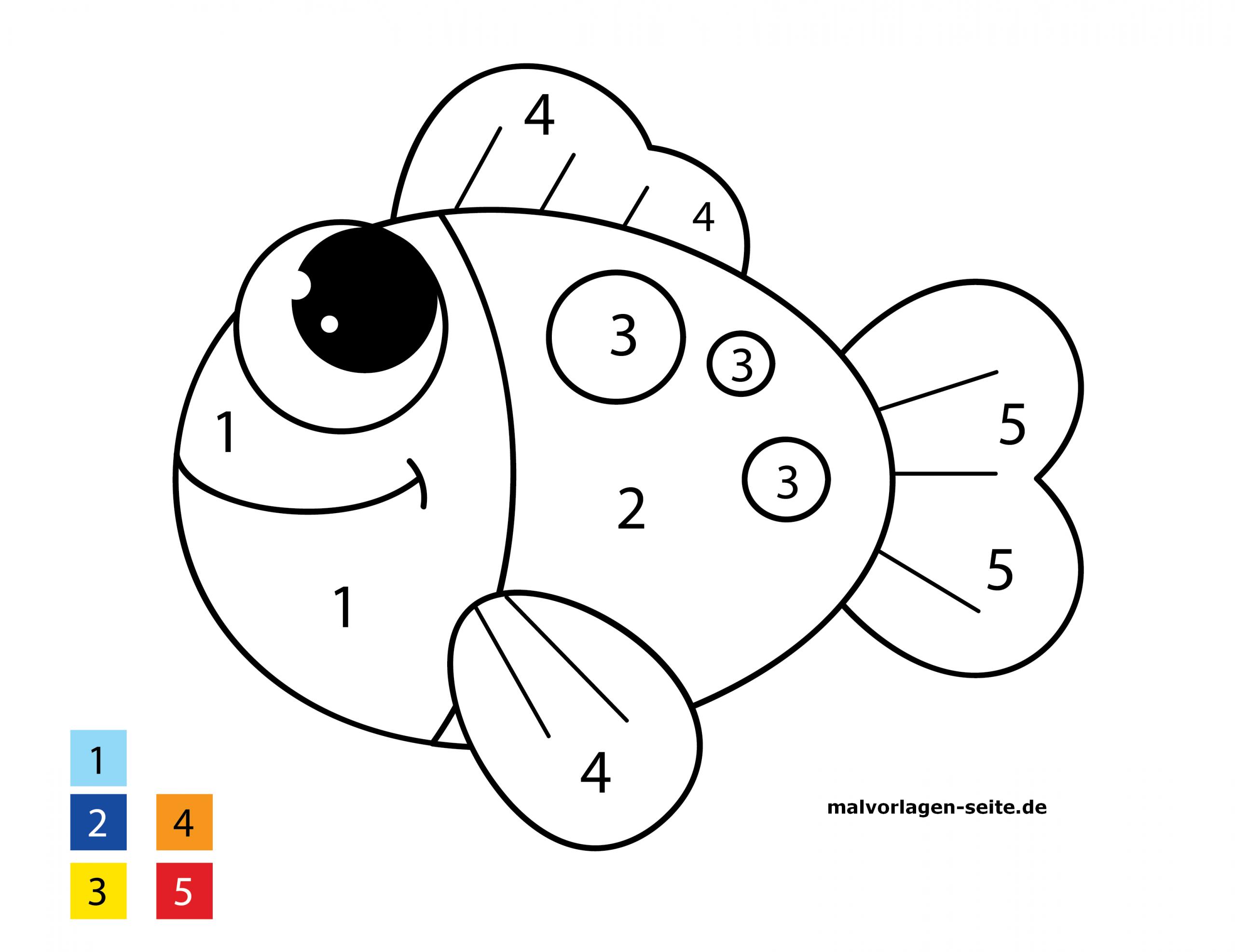 Malen Nach Zahlen Fisch - Ausmalbilder Kostenlos Herunterladen ganzes Fisch Ausmalen