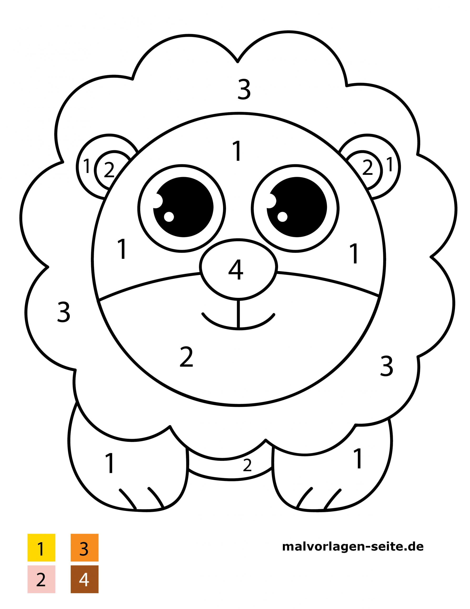 ausmalbilder löwe kostenlos  kinderbilderdownload