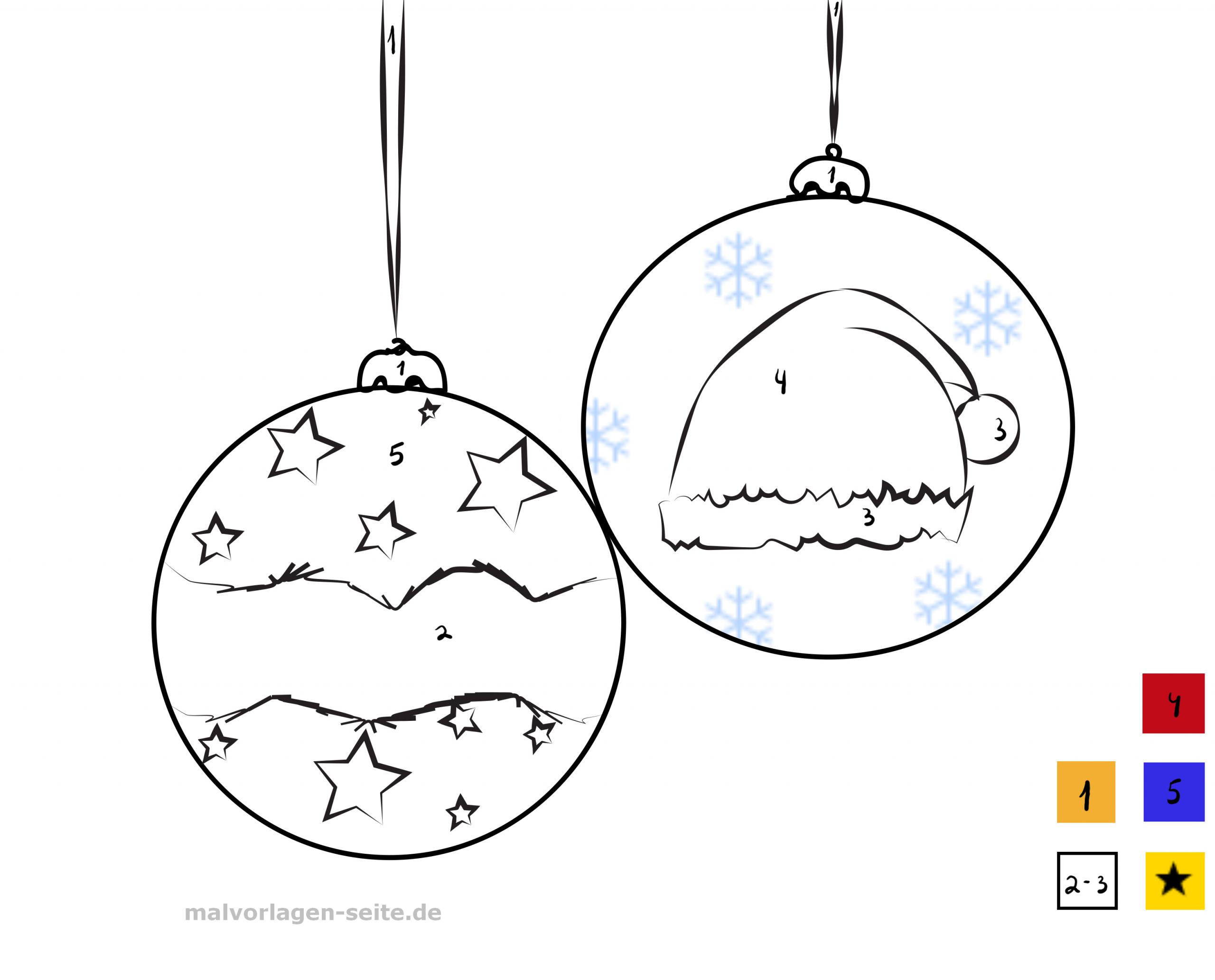 Malen Nach Zahlen - Weihnachten - Ausmalbilder Kostenlos ganzes Weihnachten Malen Nach Zahlen