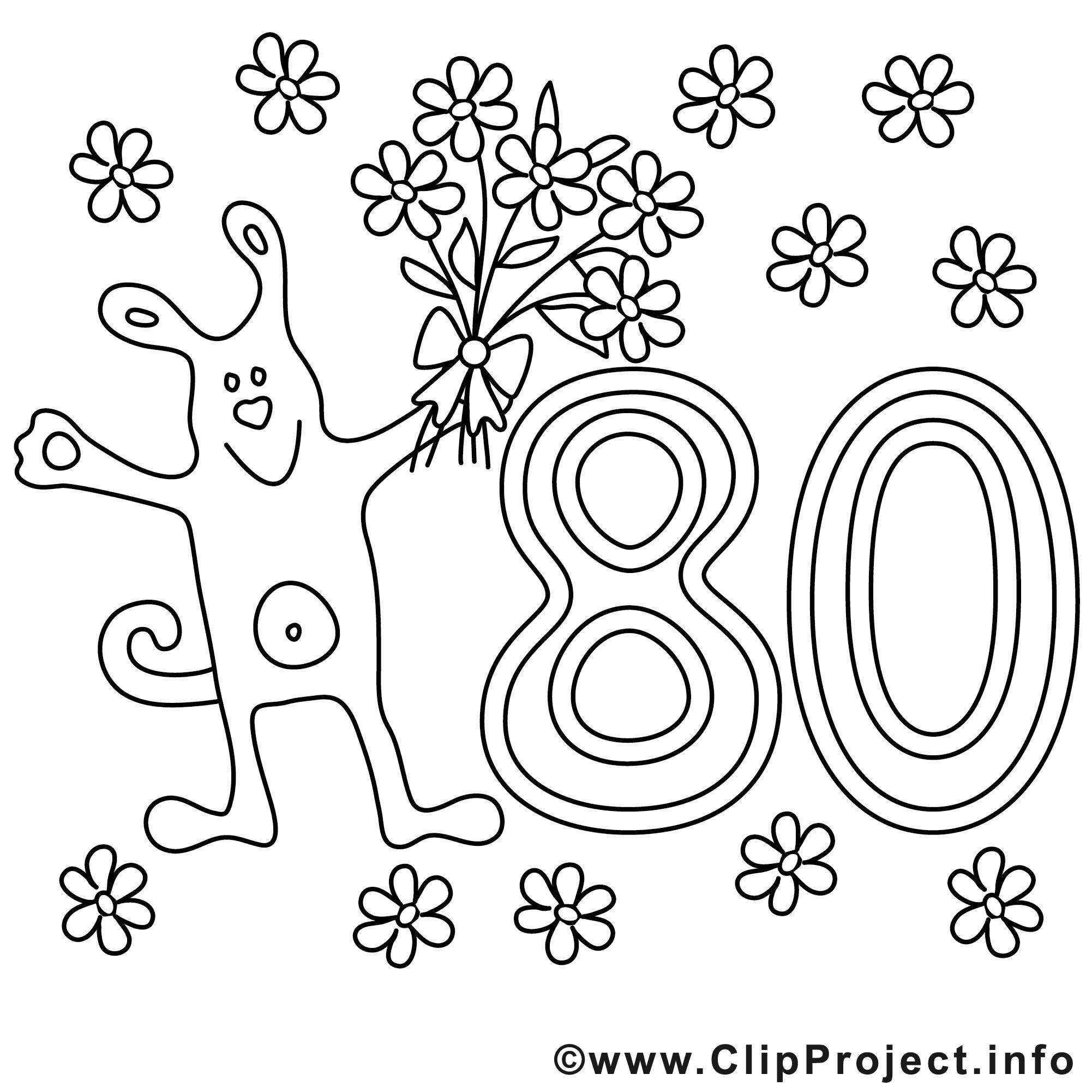 Malvorlage 80.geburtstag | Coloring And Malvorlagan bestimmt für Geburtstag Ausmalbilder