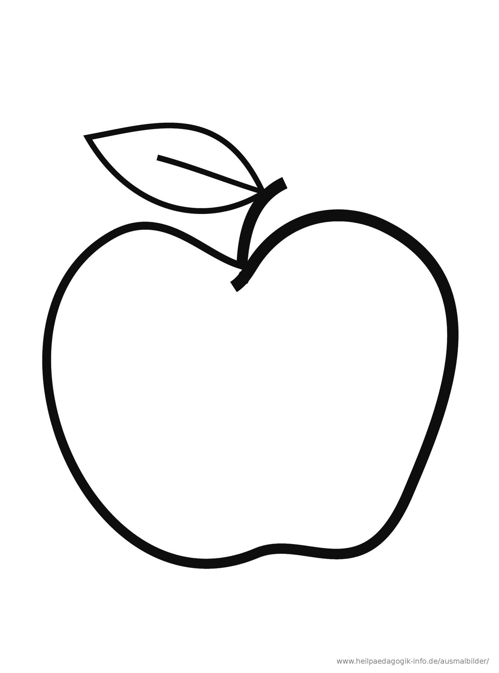 Malvorlage Apfel | Malvorlagen, Ausmalbilder, Ausmalen bei Apfel Ausmalbilder