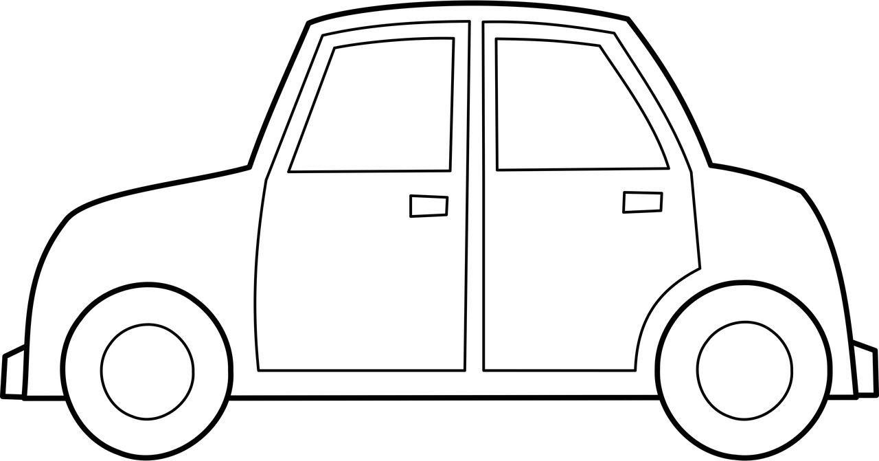 Malvorlage Auto Einfach – Ausmalbilder Für Kinder bei Malvorlage Auto Einfach