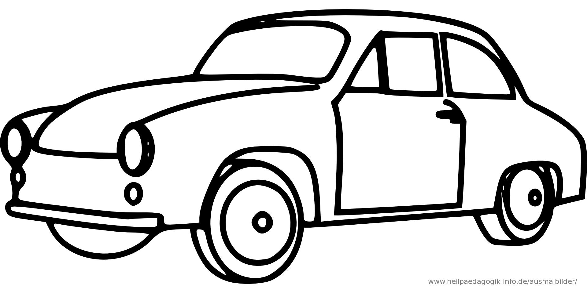 Malvorlage Auto Einfach – Ausmalbilder Für Kinder (Mit bei Auto Zum Ausmalen