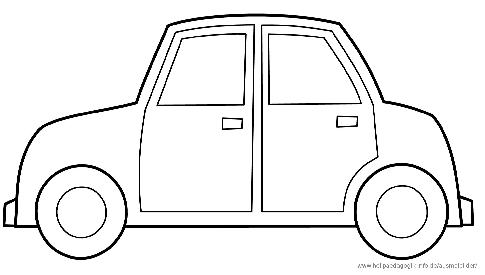 Malvorlage Auto Einfach | Malvorlage Auto, Ausmalbilder in Ausmalbilder Auto Kostenlos