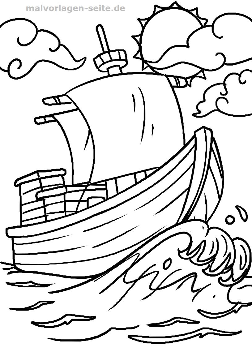 Malvorlage Boot | Fahrzeuge - Ausmalbilder Kostenlos verwandt mit Ausmalbilder Boot Kostenlos