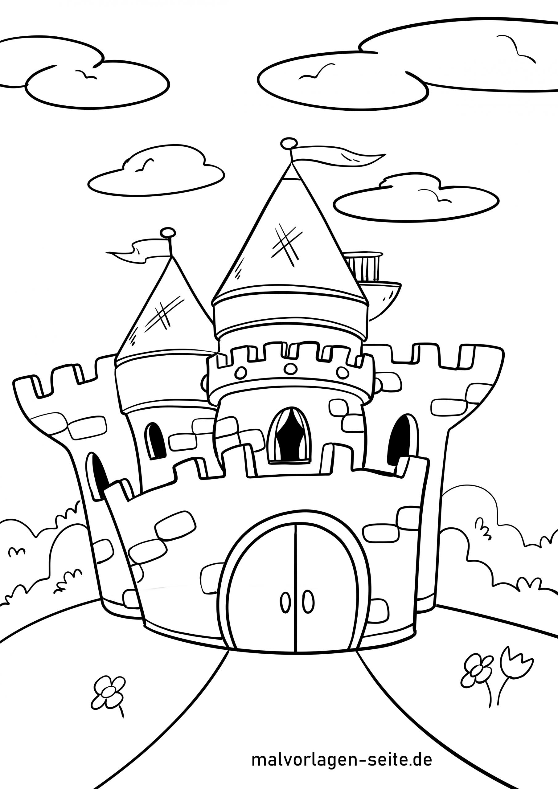 Malvorlage Burg - Ausmalbilder Kostenlos Herunterladen verwandt mit Ausmalbild Burg