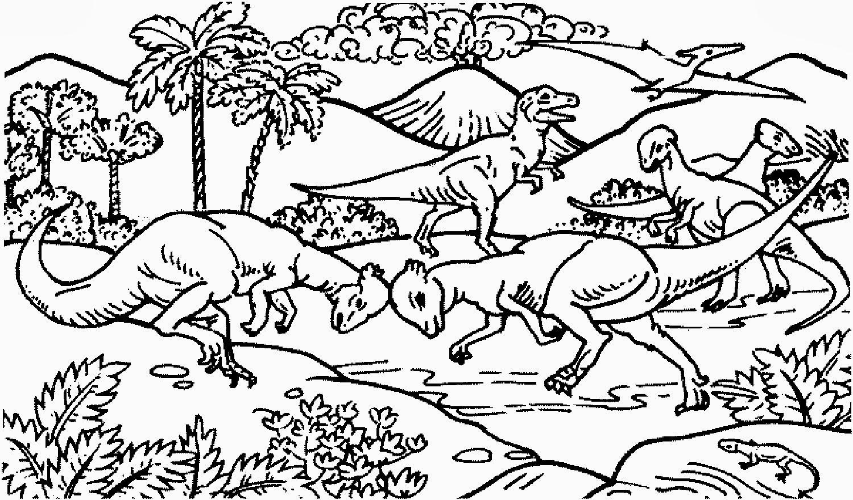 Malvorlage Dino Vulkan   Coloring And Malvorlagan für Mandala Dino