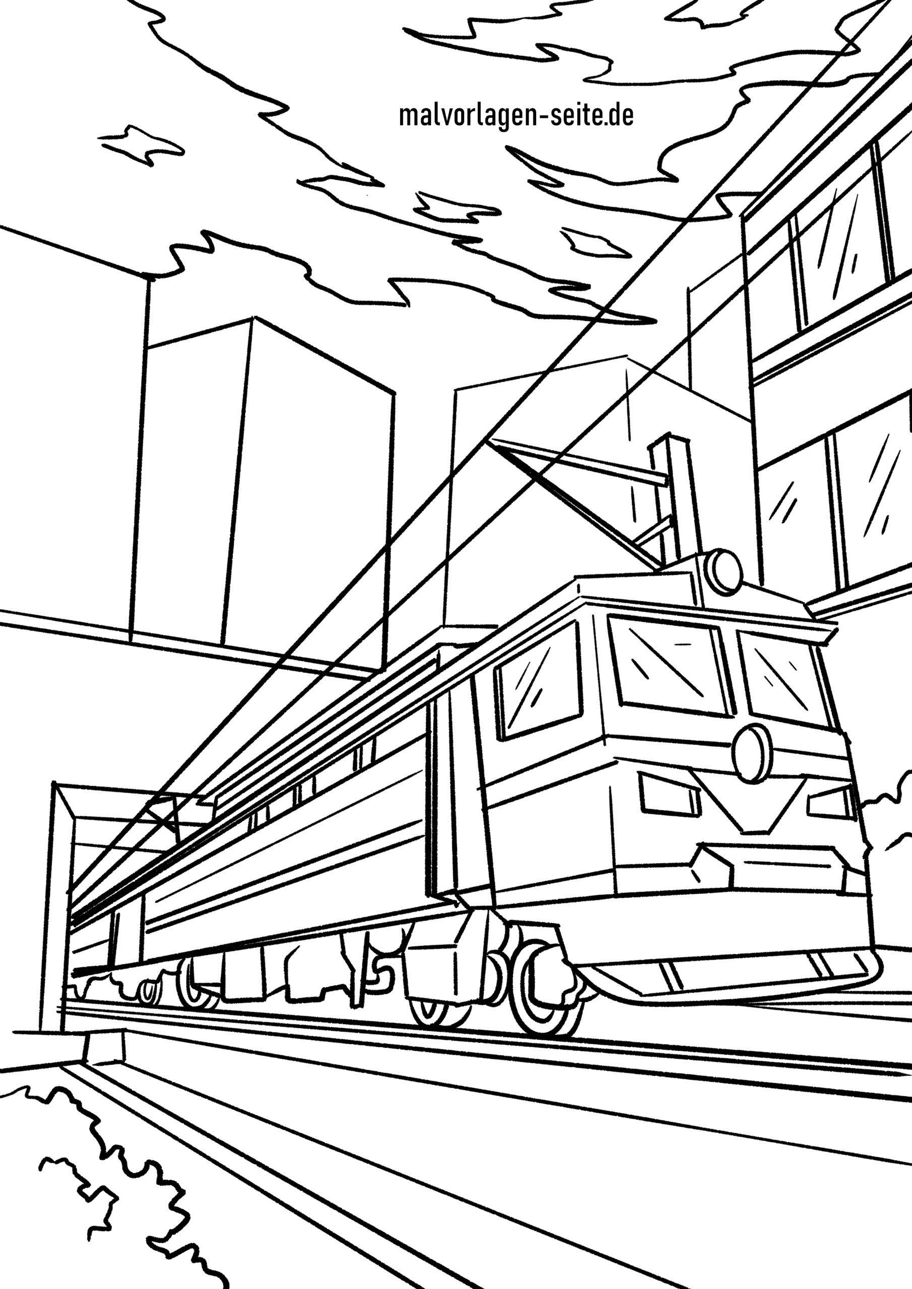 Malvorlage Eisenbahn - Ausmalbilder Kostenlos Herunterladen mit Ausmalbild Zug