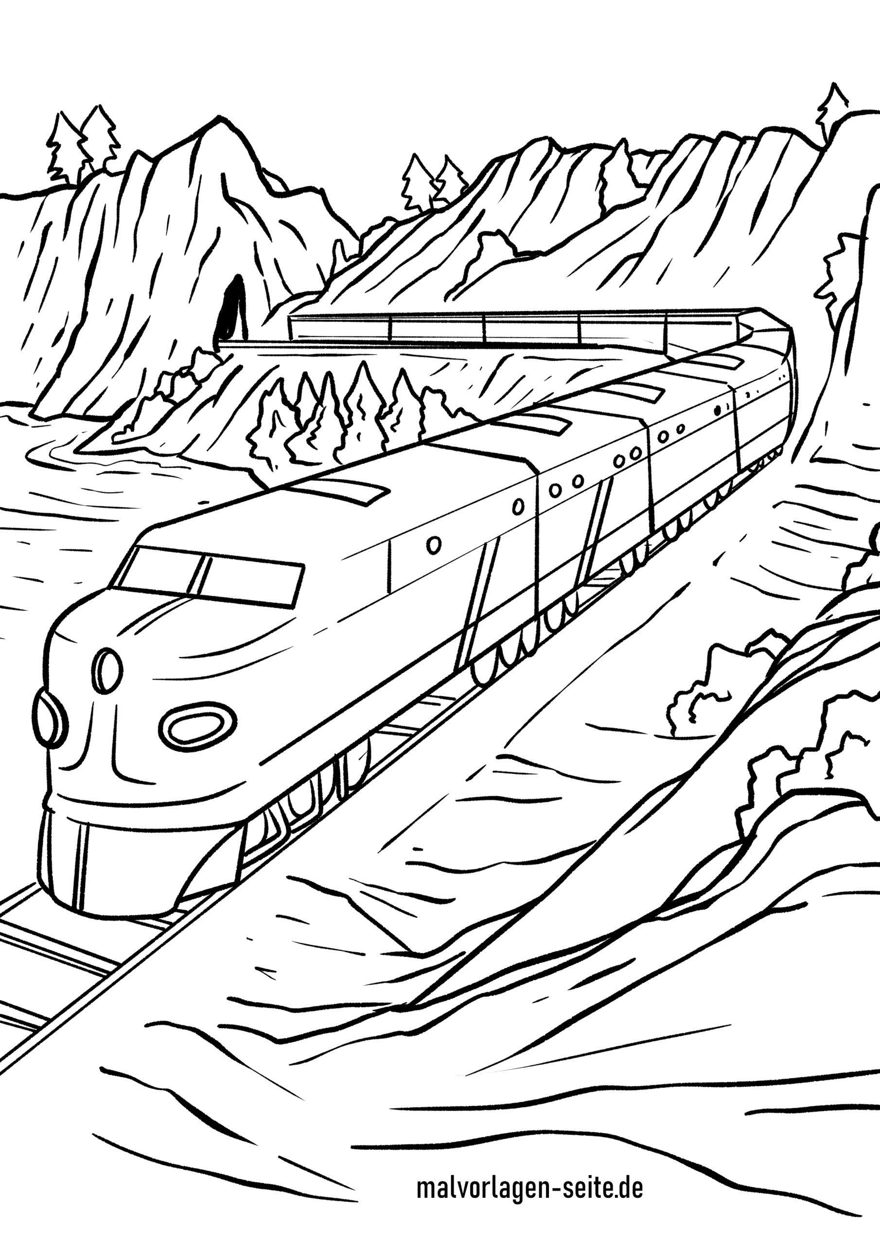 Malvorlage Eisenbahn - Ausmalbilder Kostenlos Herunterladen mit Eisenbahn Ausmalbilder