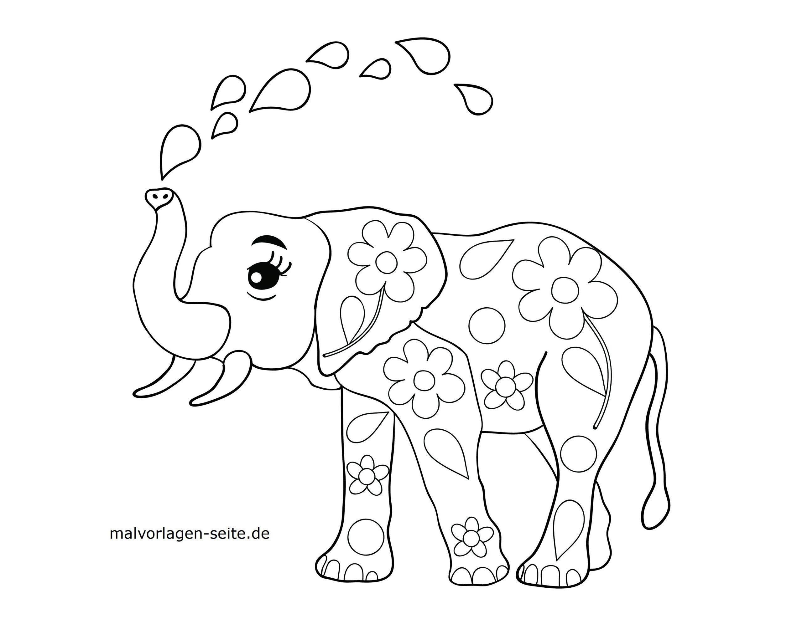 elefanten malvorlagen - kinderbilder.download