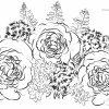 Malvorlage Erwachsene Rosen Blumenstrauß - Ausmalbilder mit Blumenstrauß Ausmalbilder