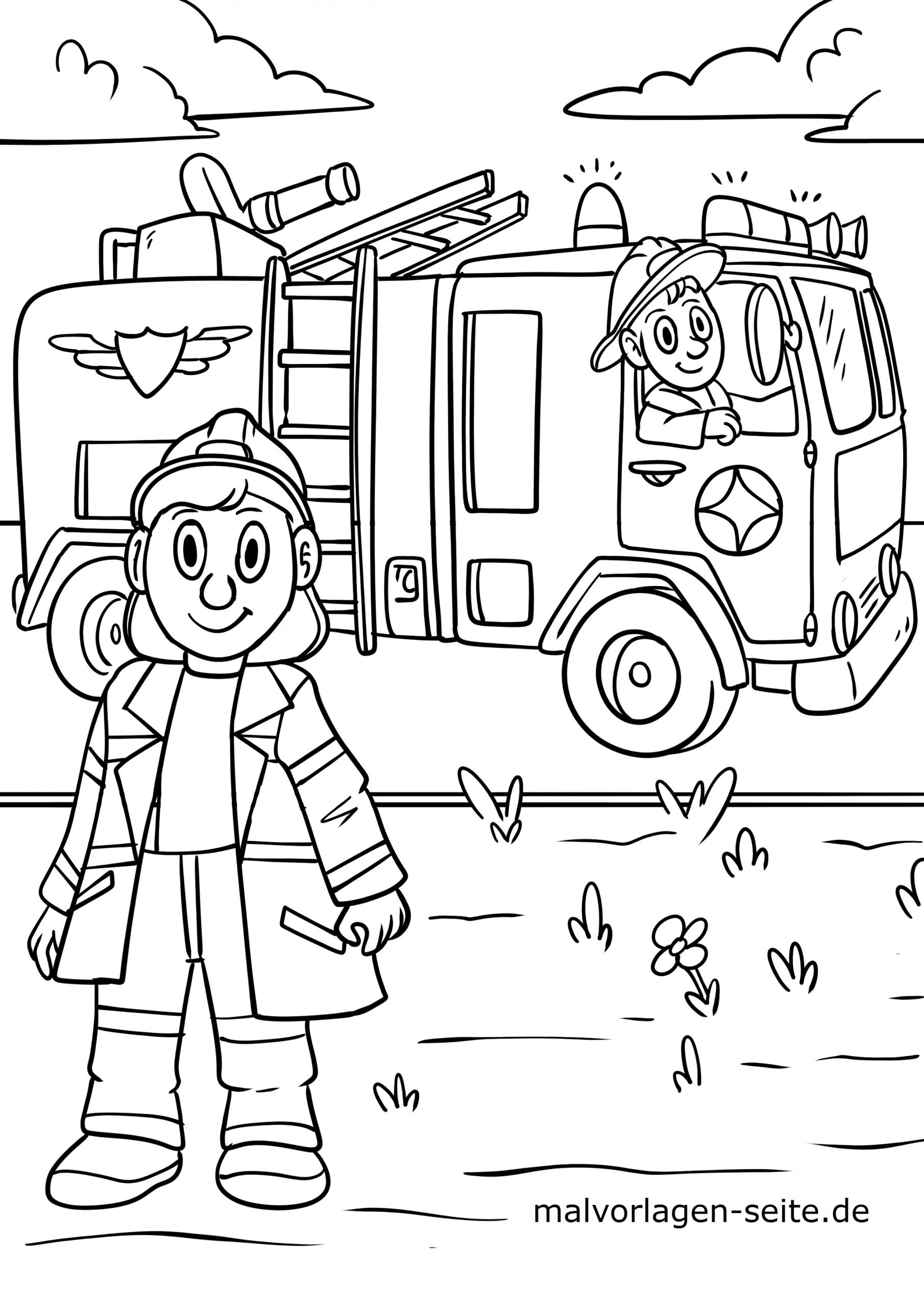 Malvorlage Feuerwehr - Ausmalbilder Kostenlos Herunterladen bestimmt für Malvorlage Feuerwehr