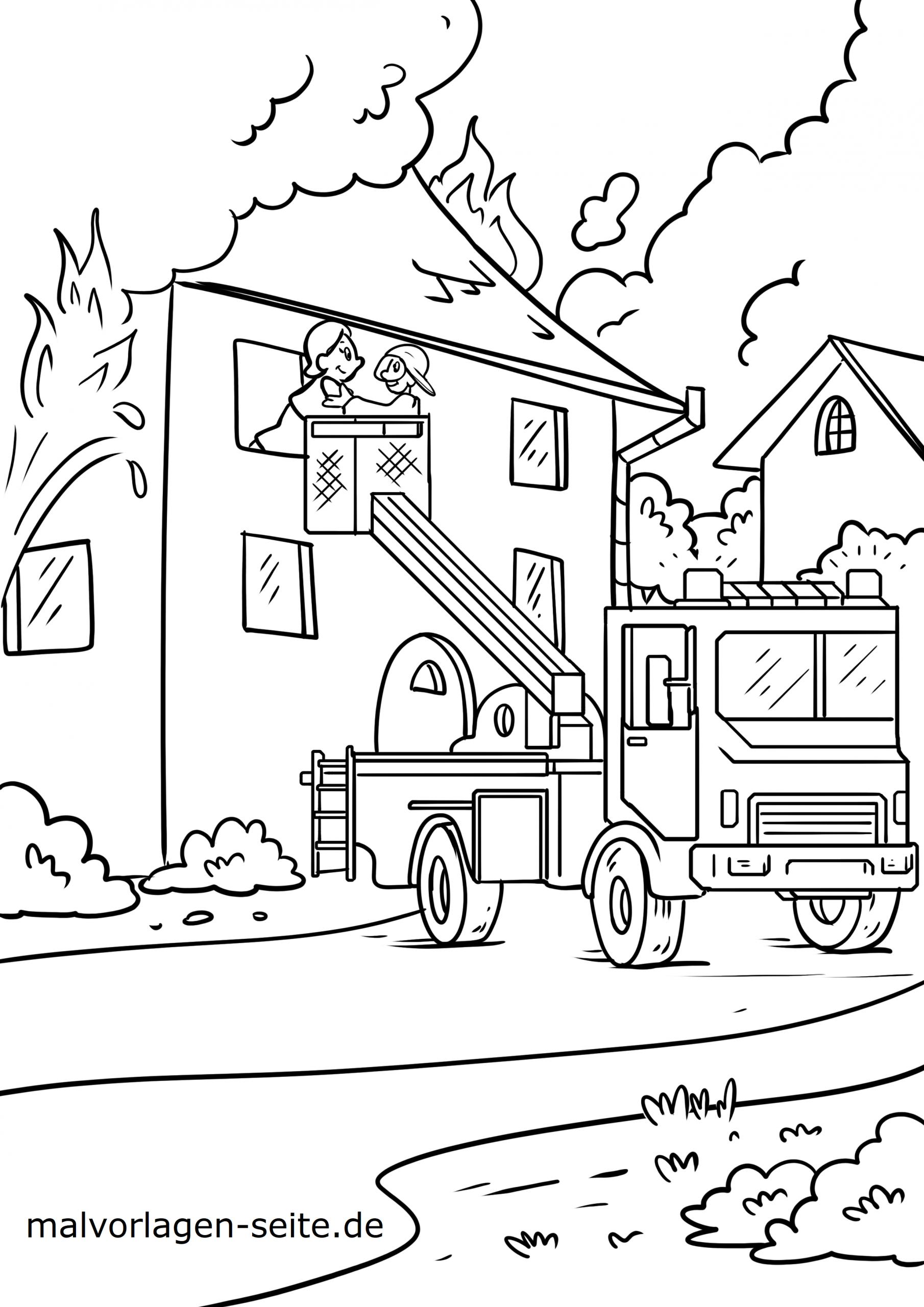 Malvorlage Feuerwehr - Ausmalbilder Kostenlos Herunterladen innen Malvorlage Feuerwehr