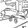 Malvorlage Flugzeug | Fahrzeuge - Ausmalbilder Kostenlos bestimmt für Ausmalbild Flugzeug