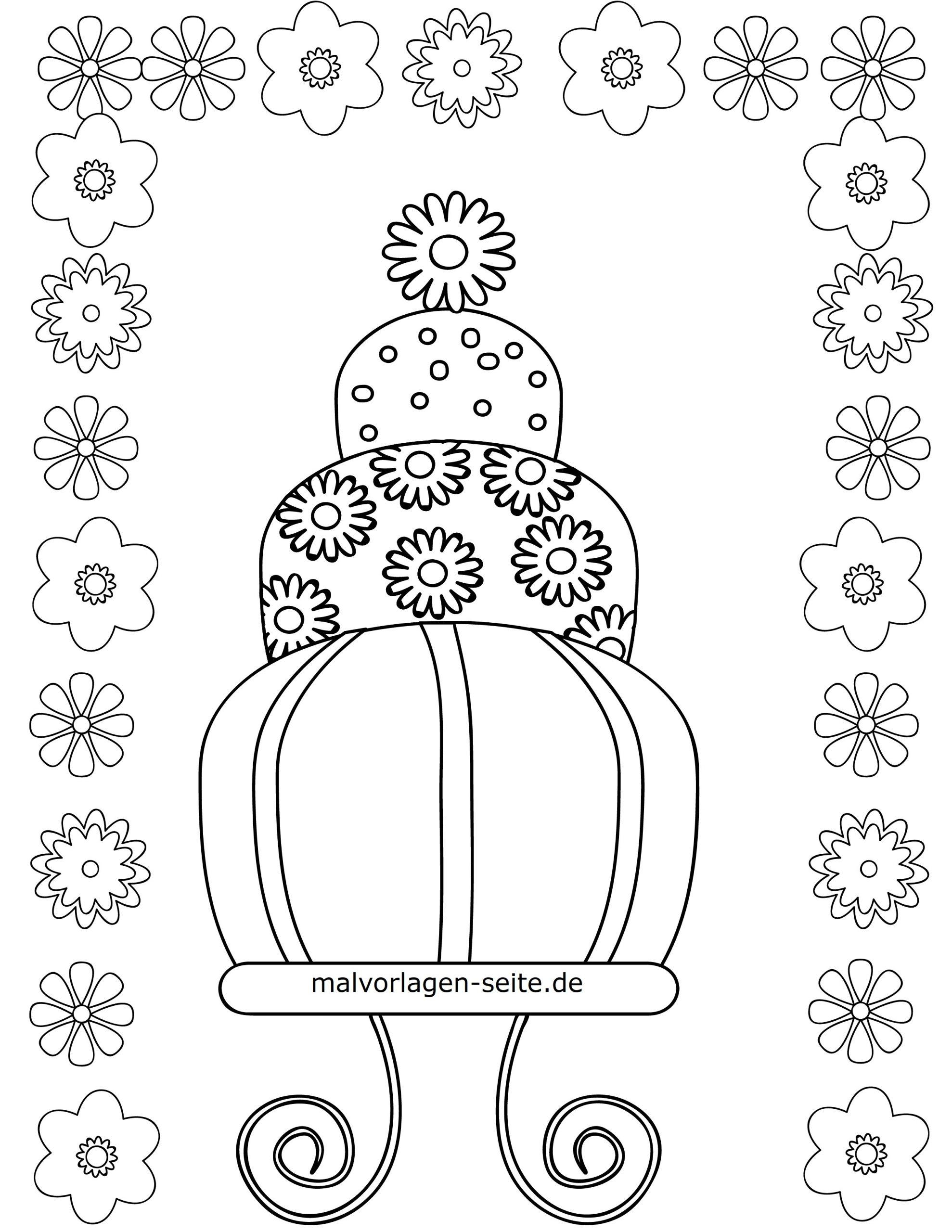 Malvorlage Für Kleine Kinder - Geburtstag Torte bei Ausmalbild Torte