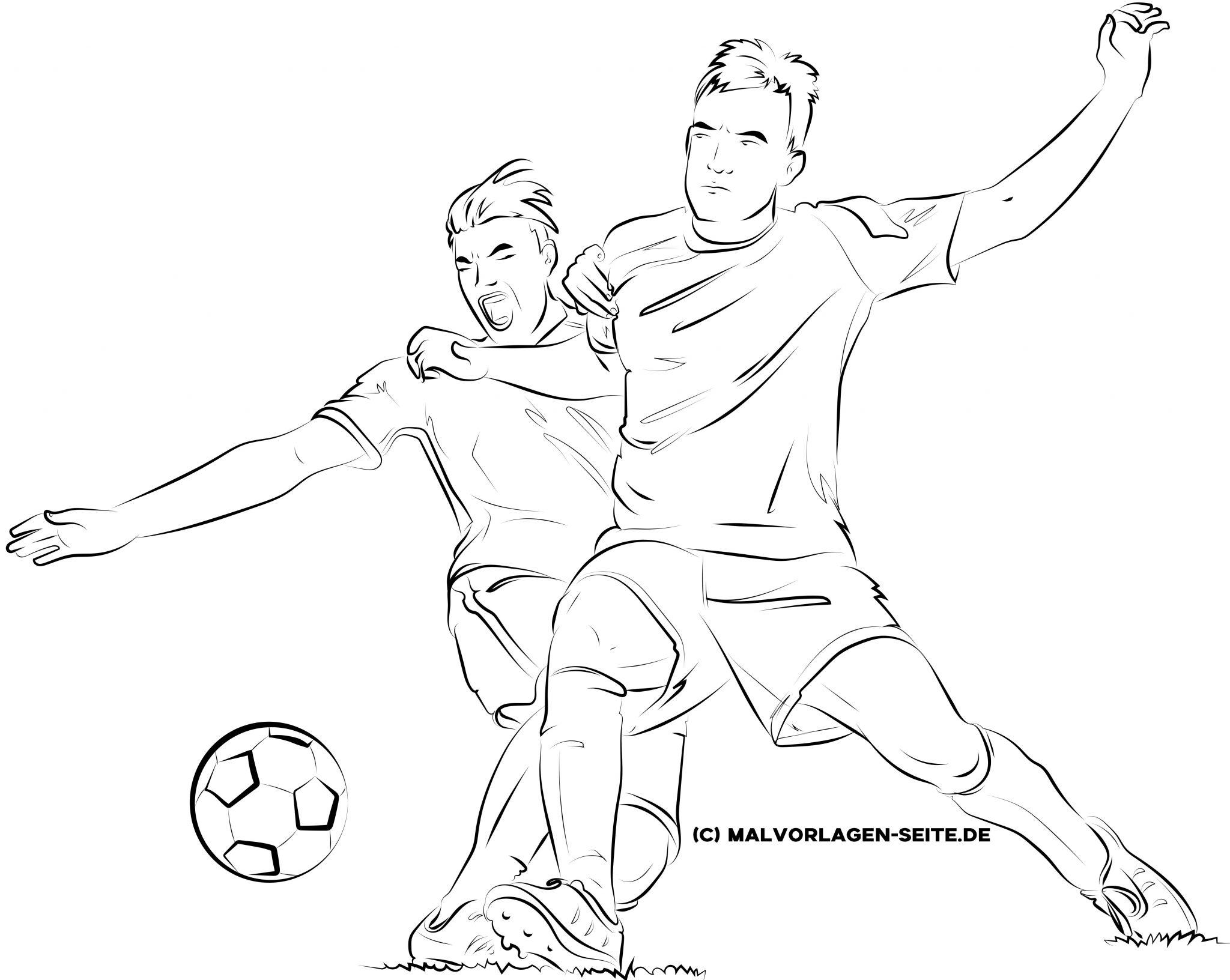 malvorlage fußball für erwachsene  ausmalbilder kostenlos