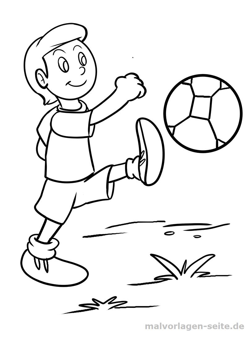 Malvorlage Fußball   Sport - Ausmalbilder Kostenlos ganzes Ausmalbilder Fußball Kostenlos