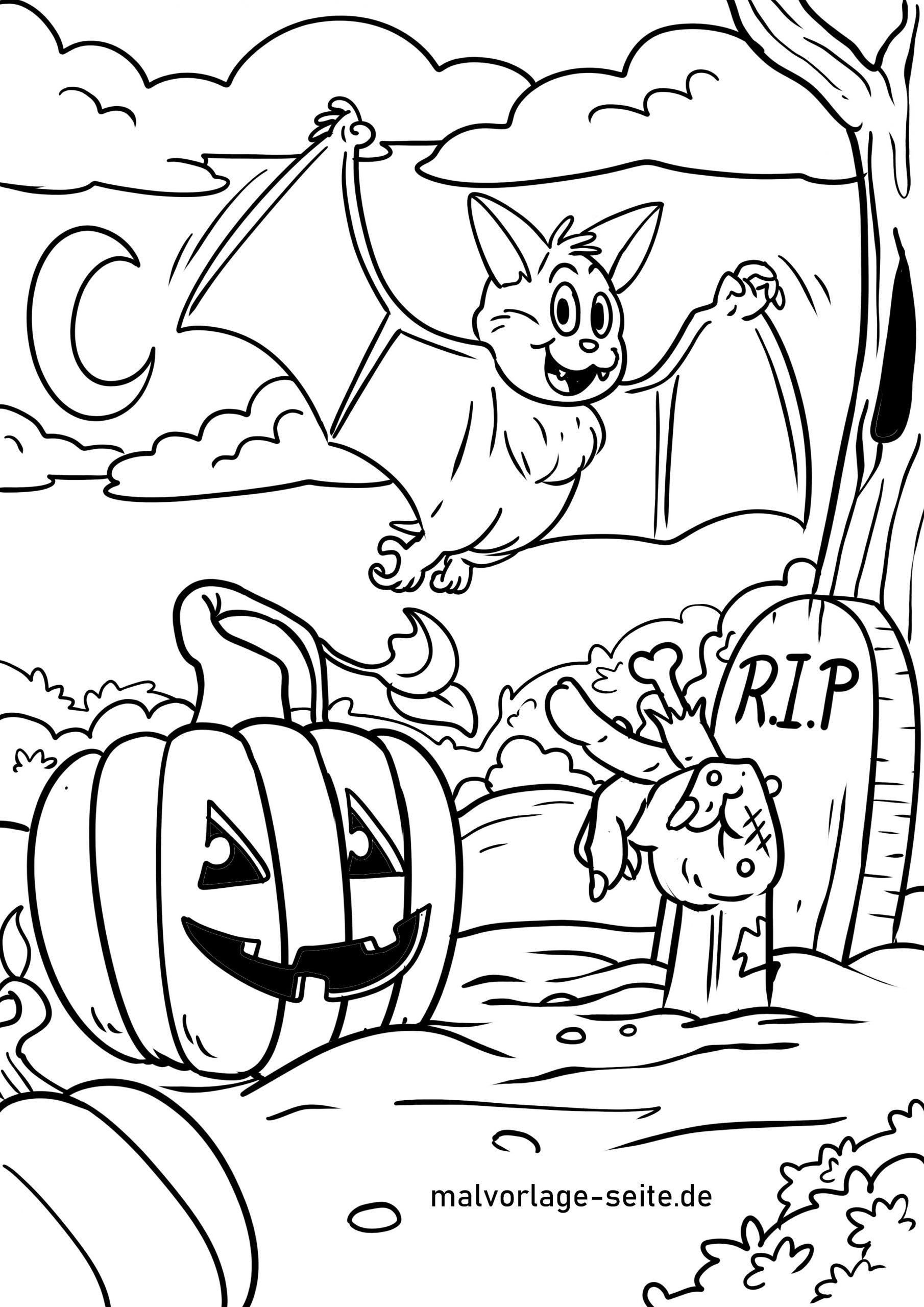 Malvorlage Halloween Feiern   Feiertage - Ausmalbilder bei Ausmalbilder Halloween