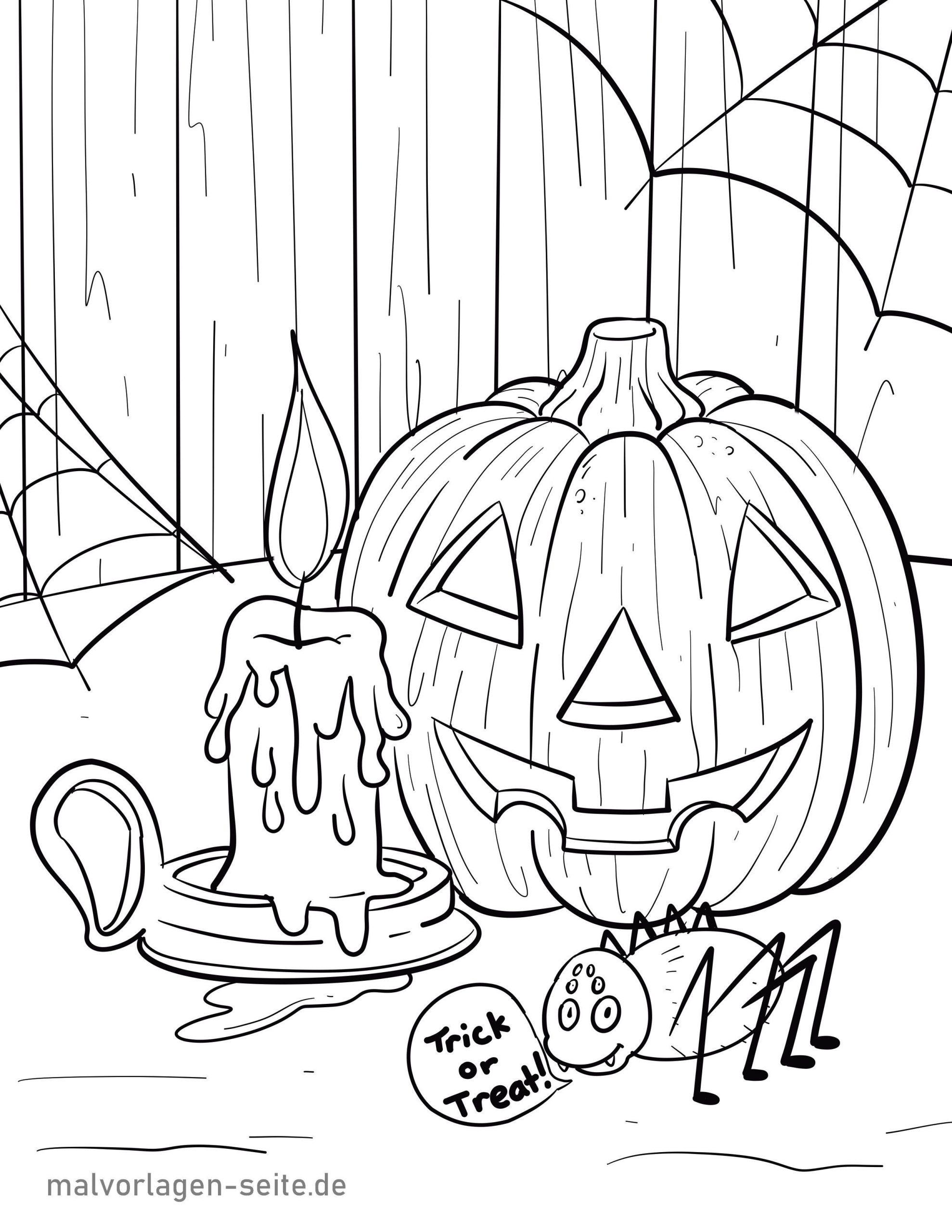 Malvorlage Halloween   Feiertage - Ausmalbilder Kostenlos bei Ausmalbilder Halloween