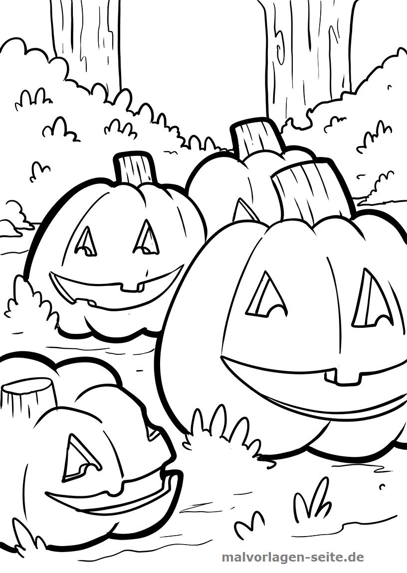 Malvorlage Halloween Kürbis   Feiertage - Ausmalbilder mit Gratis Malvorlagen Halloween
