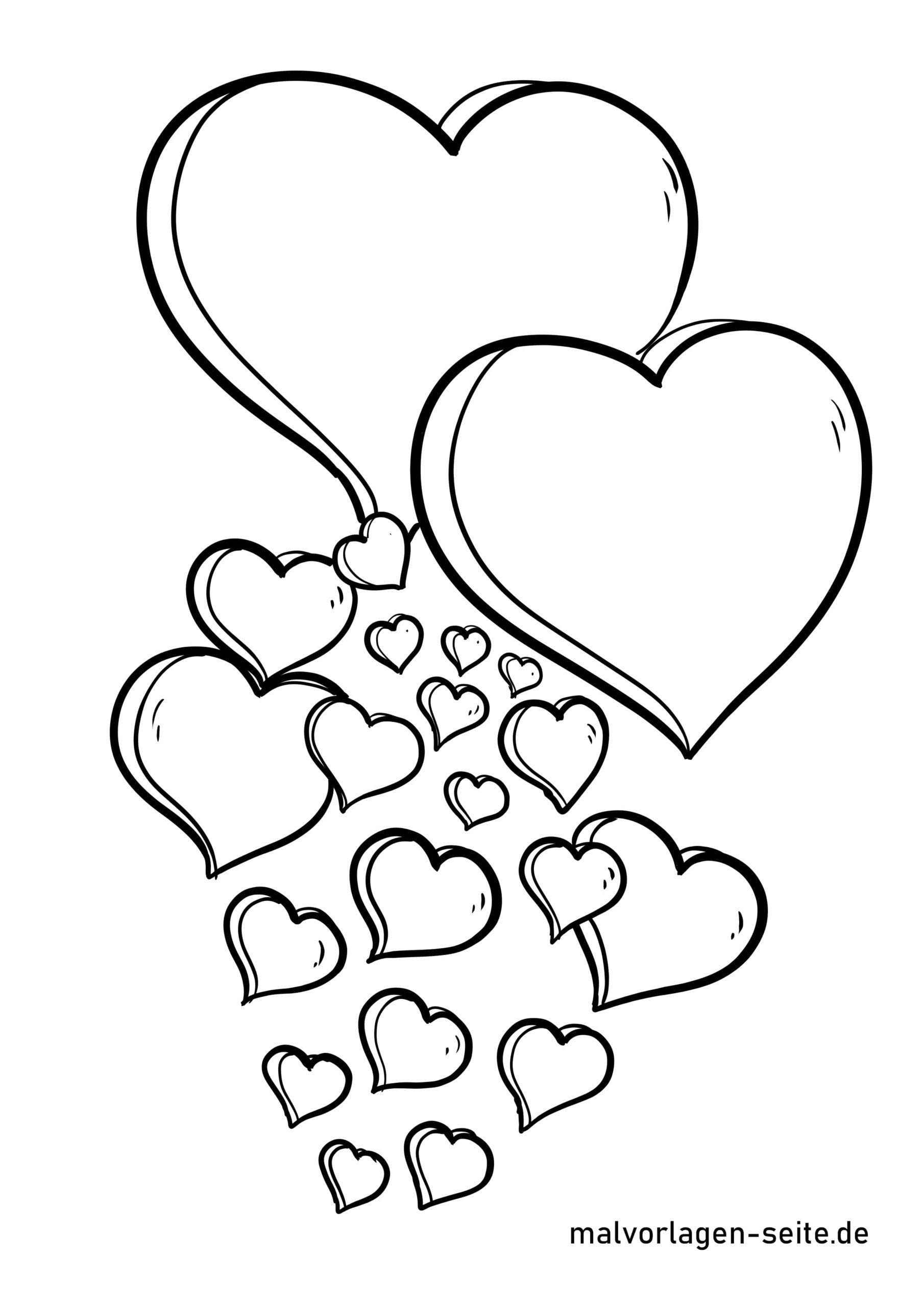 Malvorlage Herz - Ausmalbilder Kostenlos Herunterladen über Malvorlage Herz