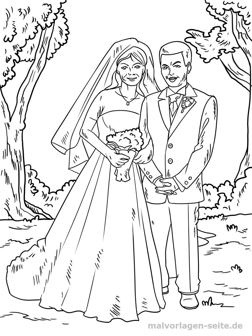Malvorlage Hochzeit | Feiertage - Ausmalbilder Kostenlos ganzes Hochzeitsbilder Zum Ausmalen