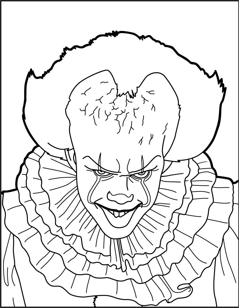 Malvorlage Horror Clown | Coloring And Malvorlagan über Clown Malvorlagen Ausdrucken