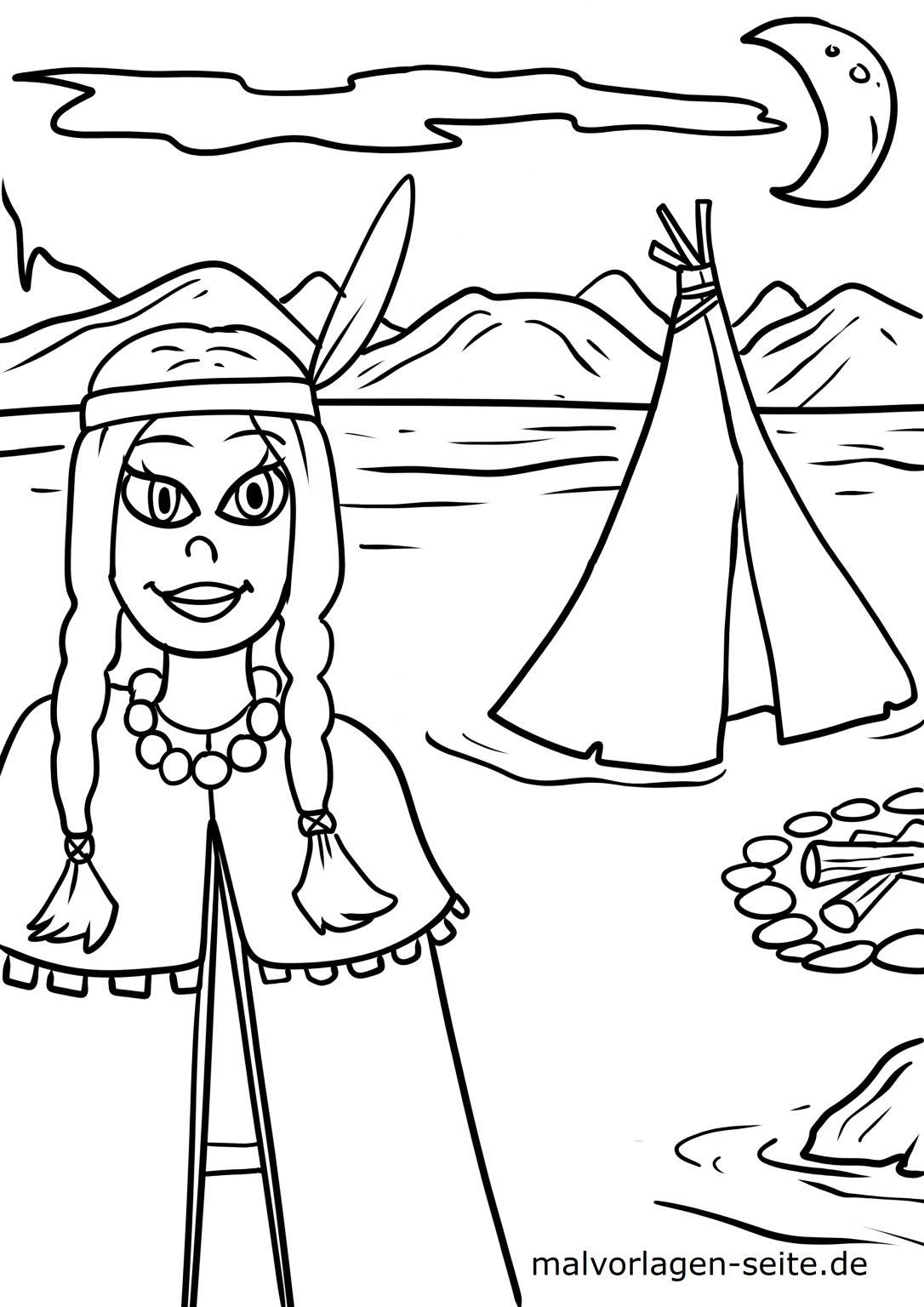 ausmalbild indianer  kinderbilderdownload  kinderbilder
