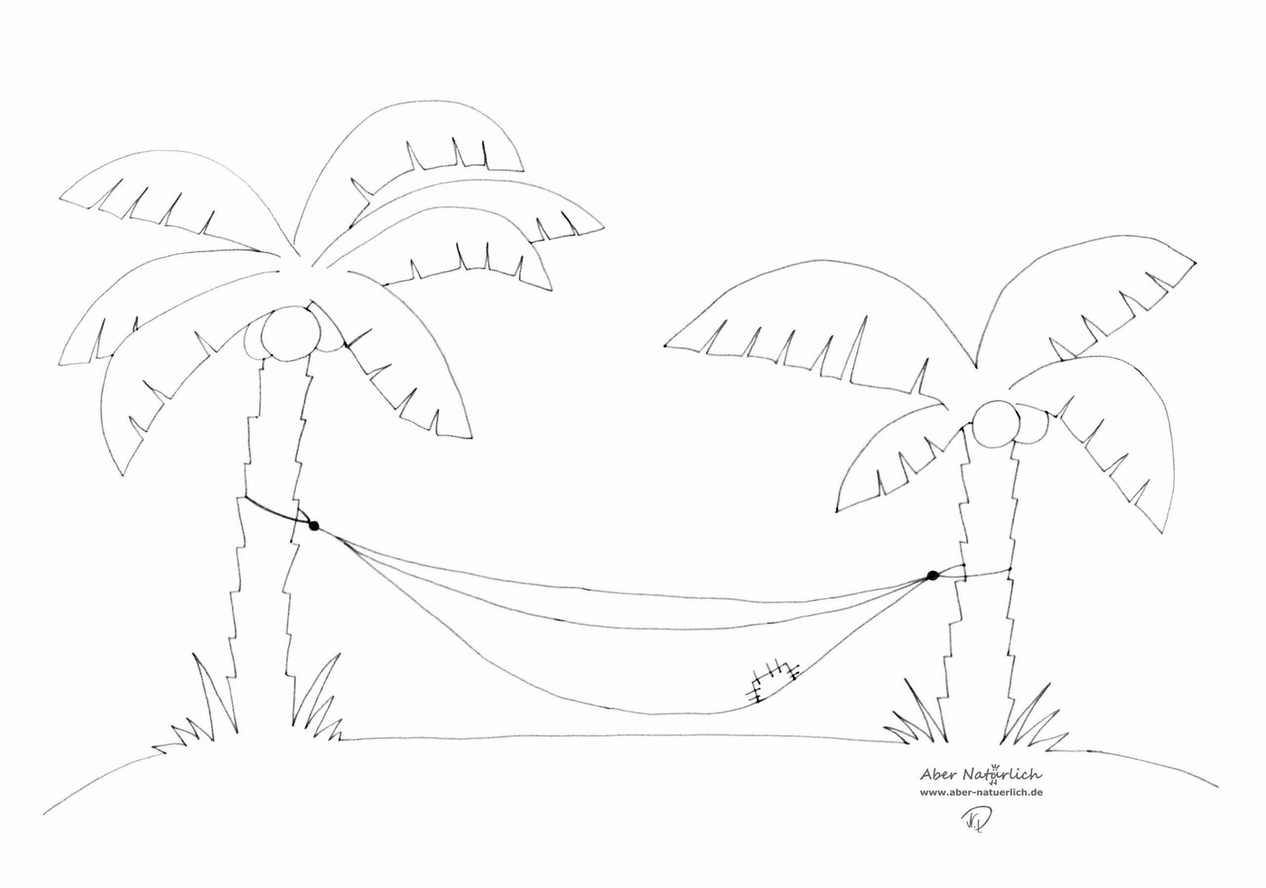 malvorlage palme  kinderbilderdownload  kinderbilder