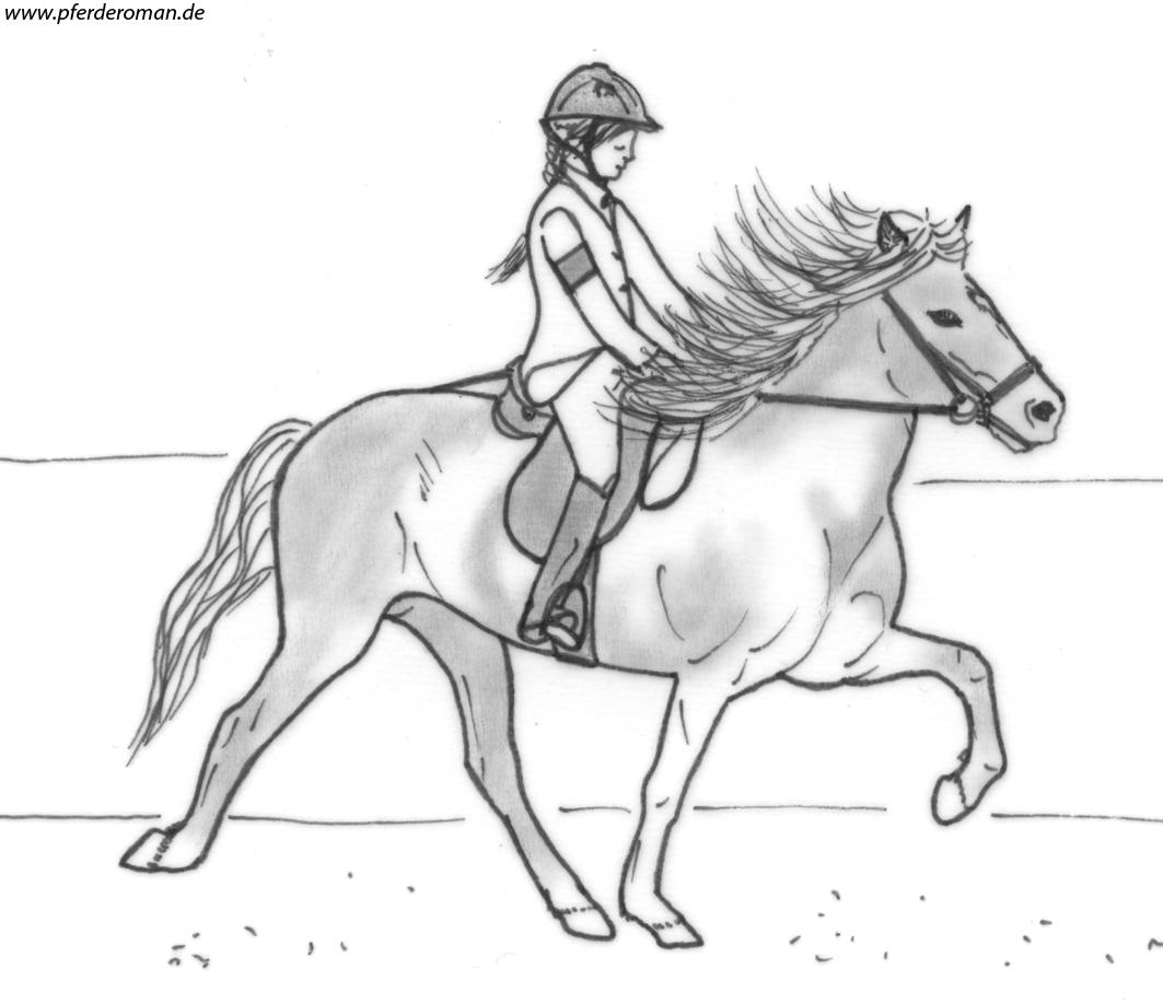 pferde zum abpausen - kinderbilder.download | kinderbilder