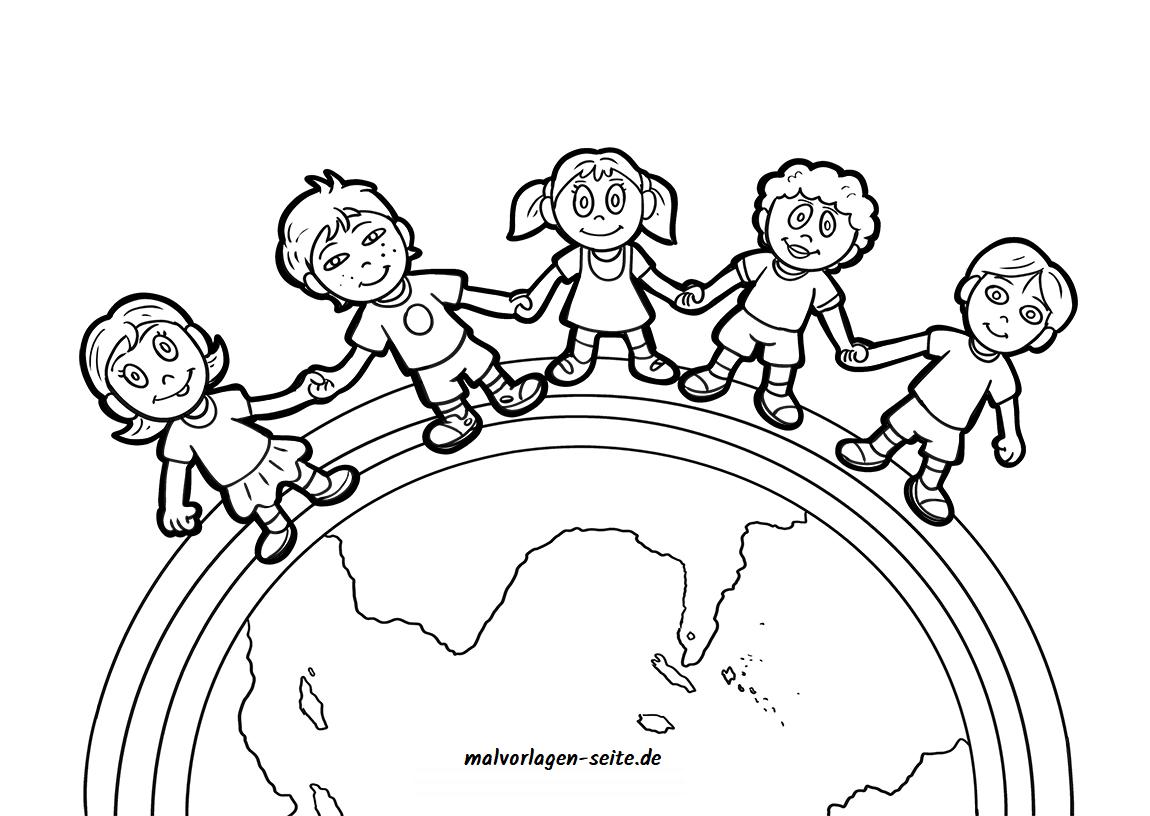 Malvorlage Kinder Dieser Erde - Ausmalbilder Kostenlos in Malvorlage Kind