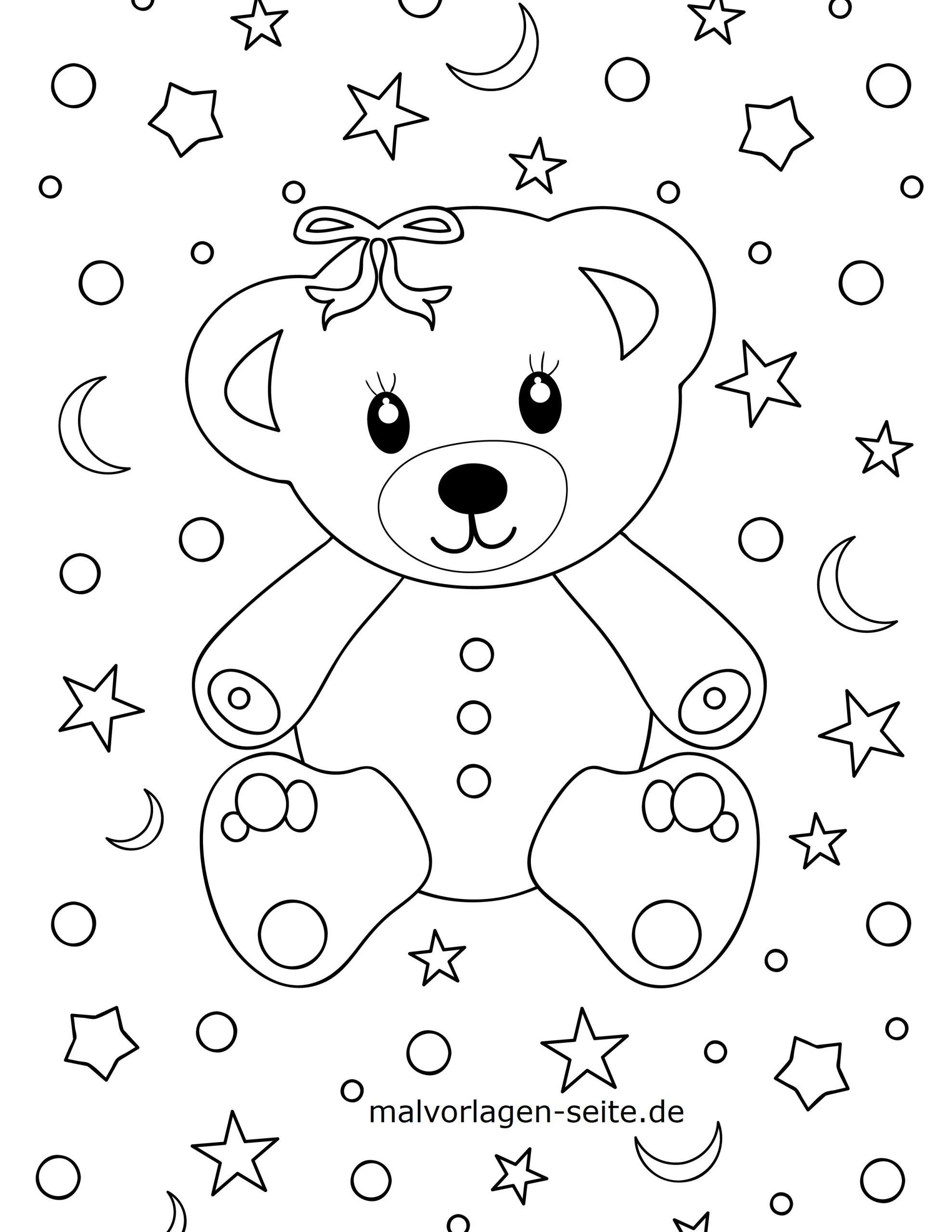 Malvorlage Kleine Kinder - Bär - Ausmalbilder Kostenlos bei Bär Zum Ausmalen