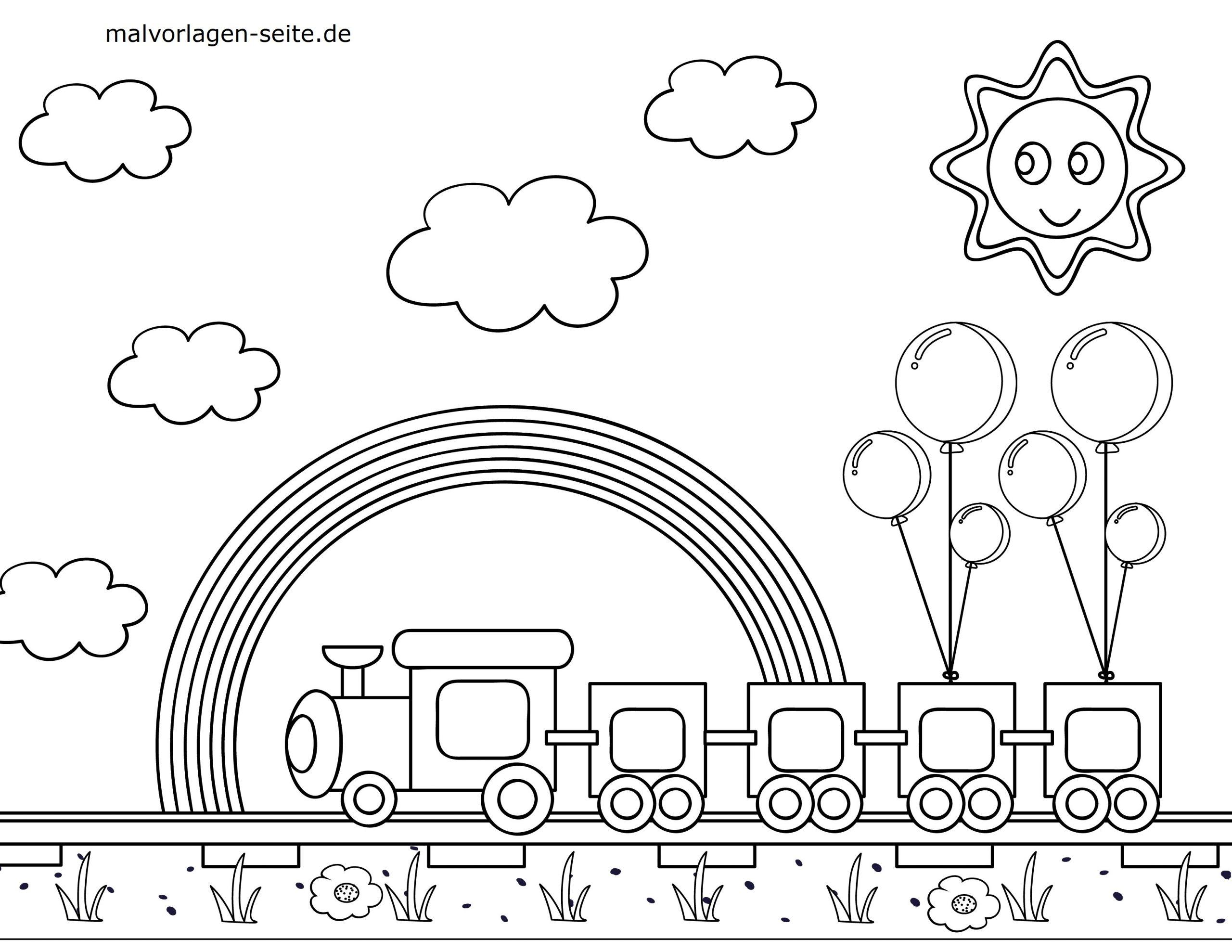 malvorlage eisenbahn  kinderbilderdownload