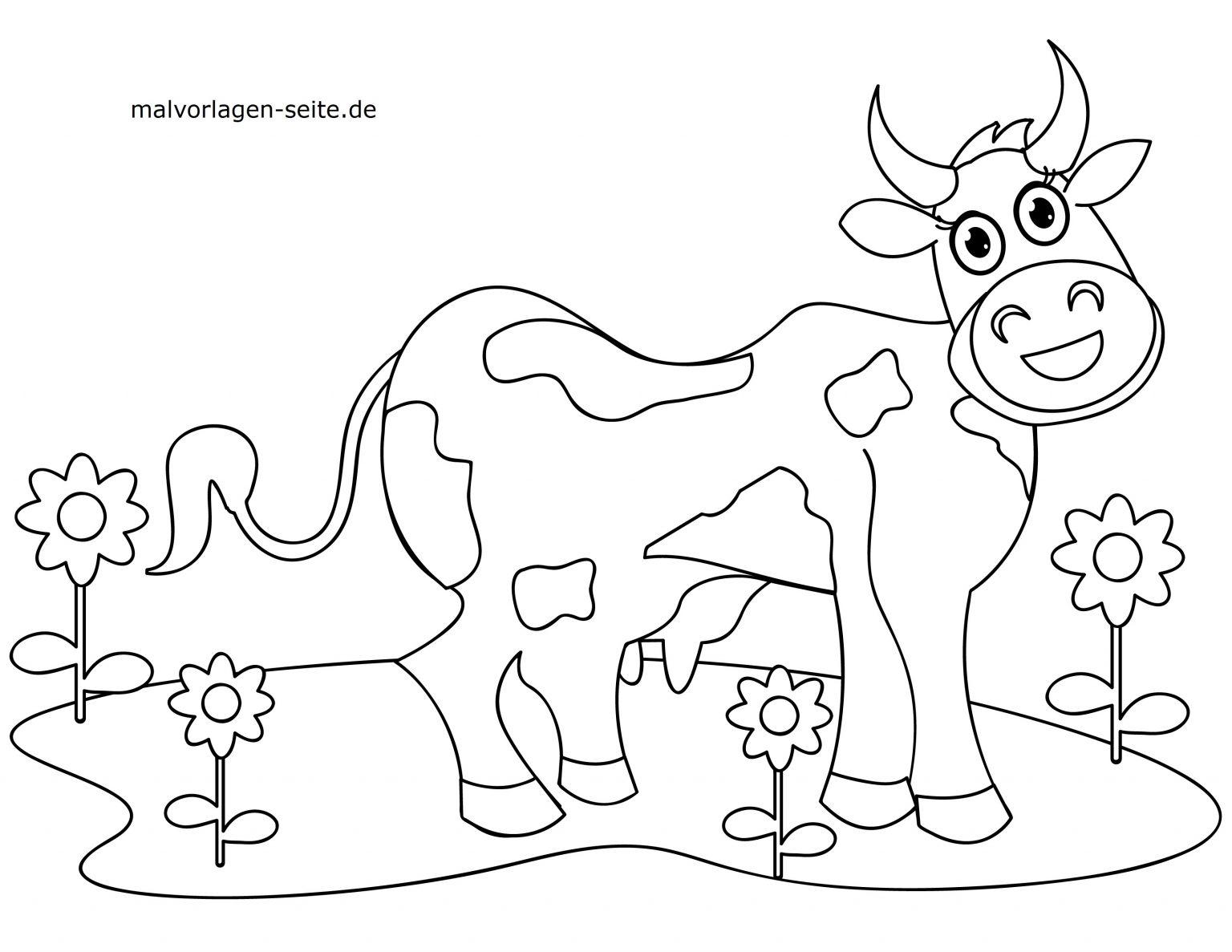 kuh malvorlage - kinderbilder.download | kinderbilder.download
