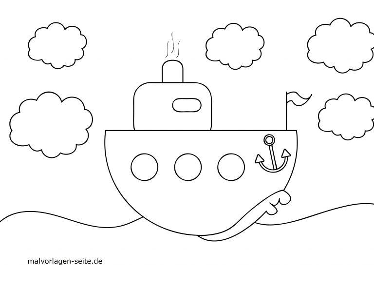 malvorlage kleine kinder  schiff  ausmalbilder kostenlos
