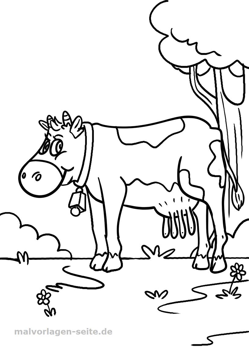 Malvorlage Kuh | Tiere Bauernhof - Ausmalbilder Kostenlos ganzes Malvorlagen Kühe