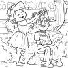 Malvorlage Mädchen   Kinder - Ausmalbilder Kostenlos ganzes Ausmalbild Mädchen