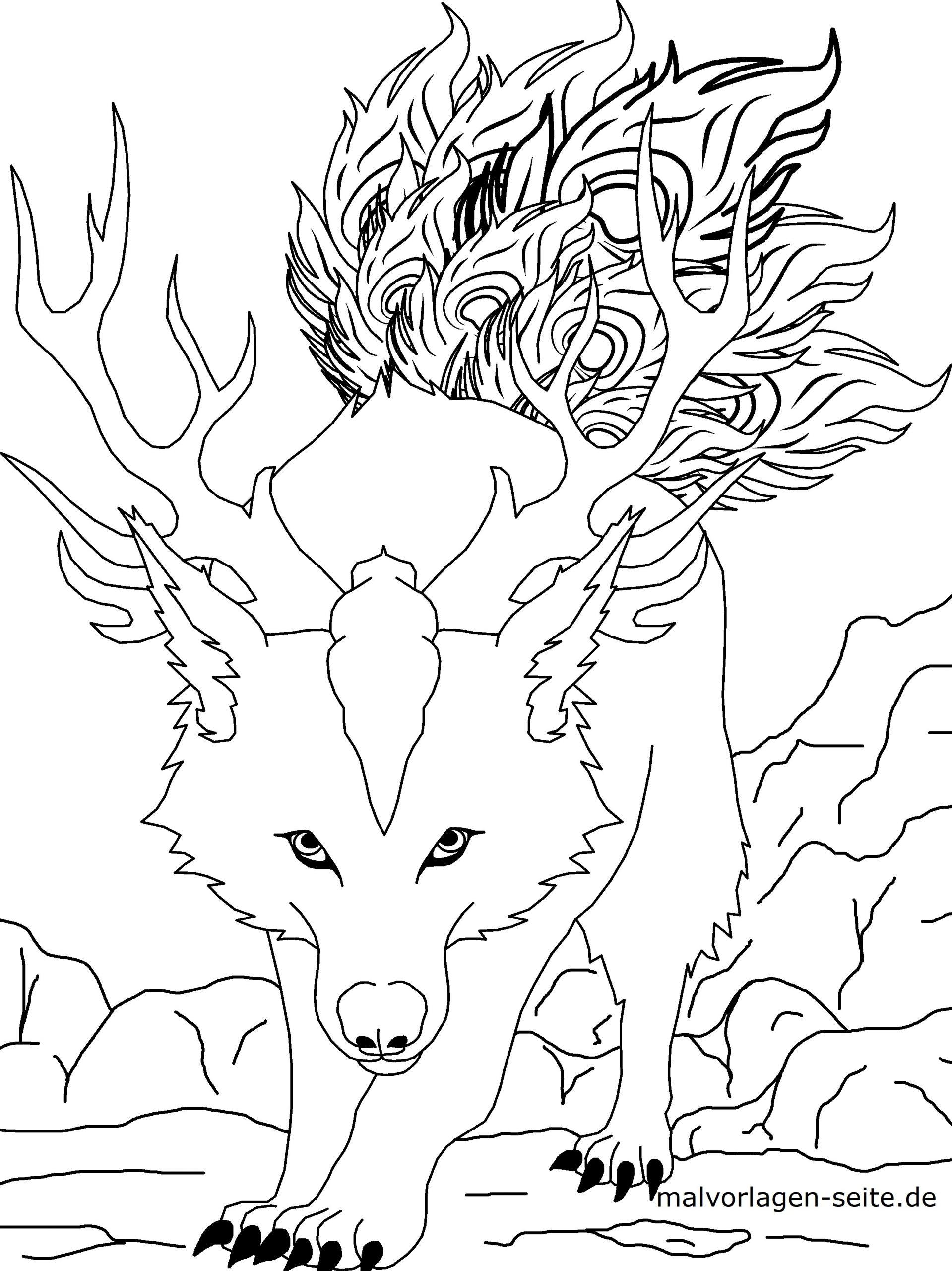 Malvorlage Manga Comic Figur - Ausmalbilder Kostenlos für Ausmalbilder Wölfe Kostenlos