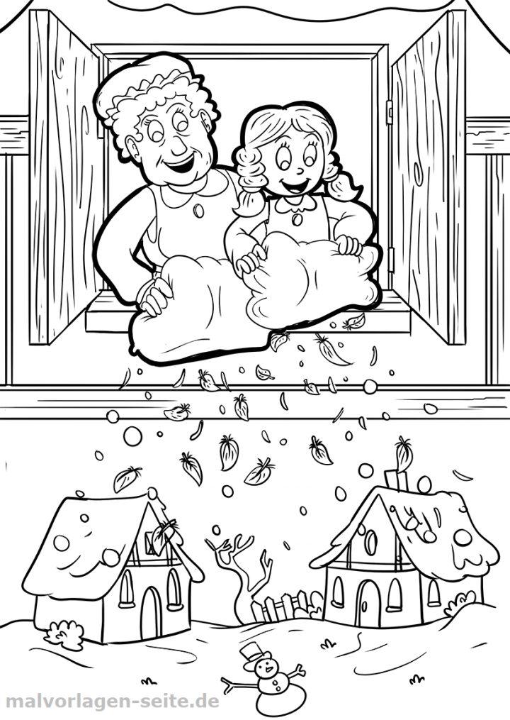 ausmalbilder märchen kostenlos  kinderbilderdownload