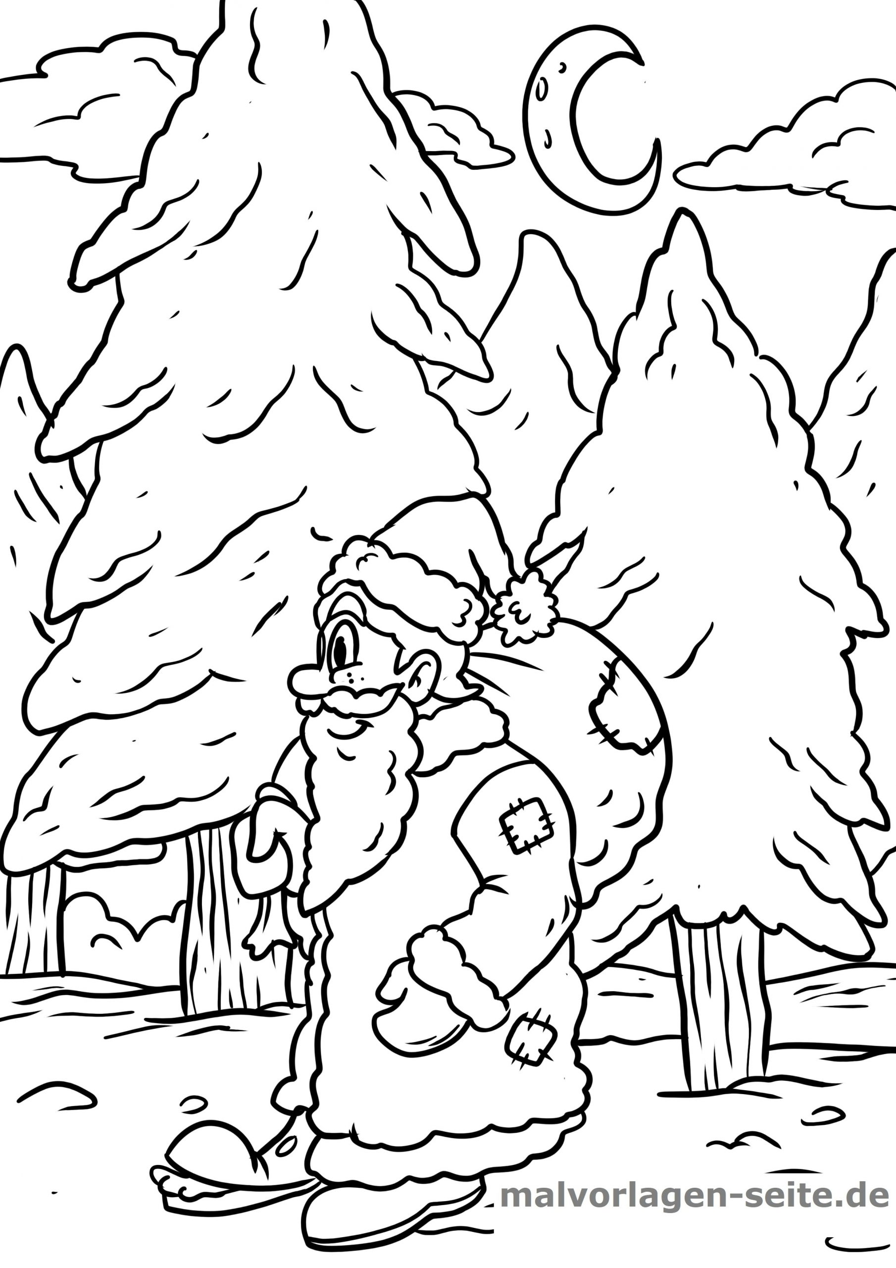 Malvorlage Nikolaus | Feiertage - Ausmalbilder Kostenlos bei Nikolaus Ausmalbilder