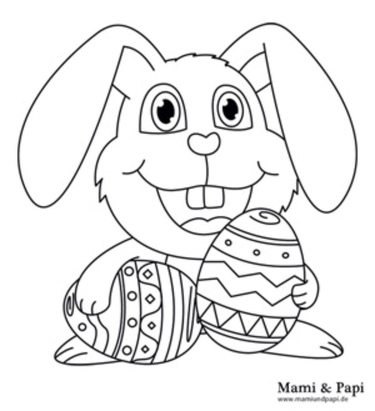 Malvorlage Osterhase | Mami & Papi mit Osterhase Malvorlage