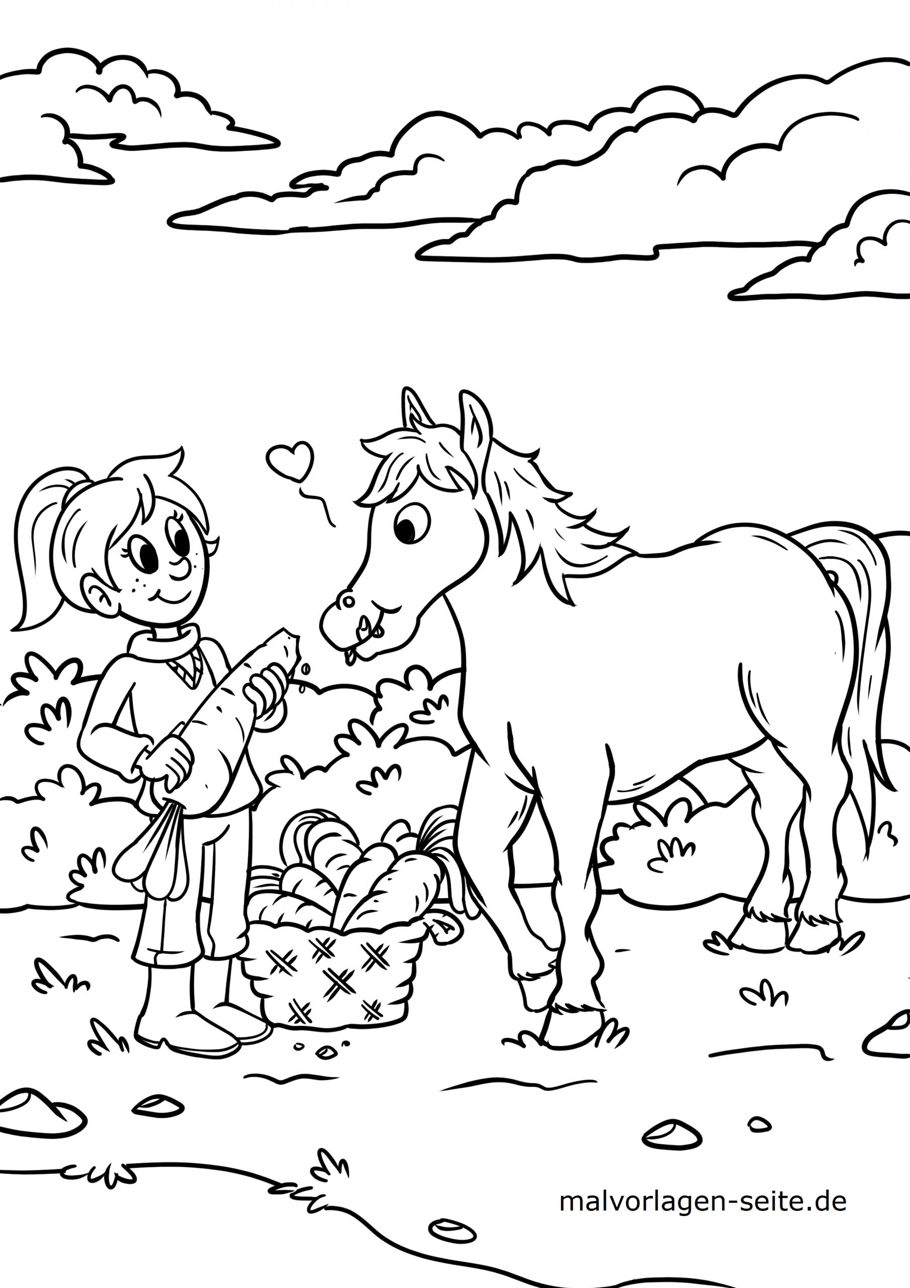 ausmalbilder pferde im stall - kinderbilder.download