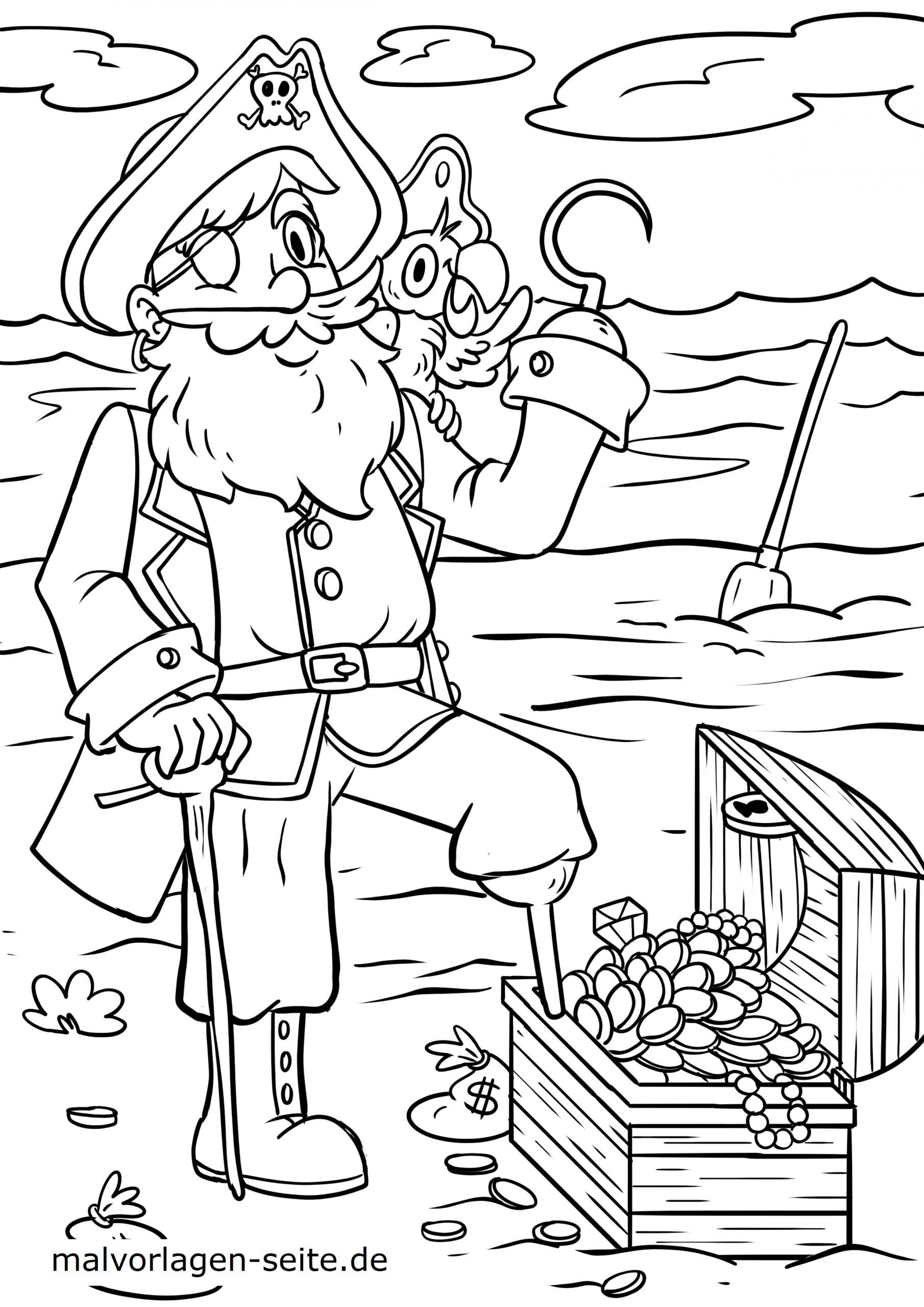 Malvorlage Pirat - Ausmalbilder Kostenlos Herunterladen bestimmt für Pirat Malvorlage