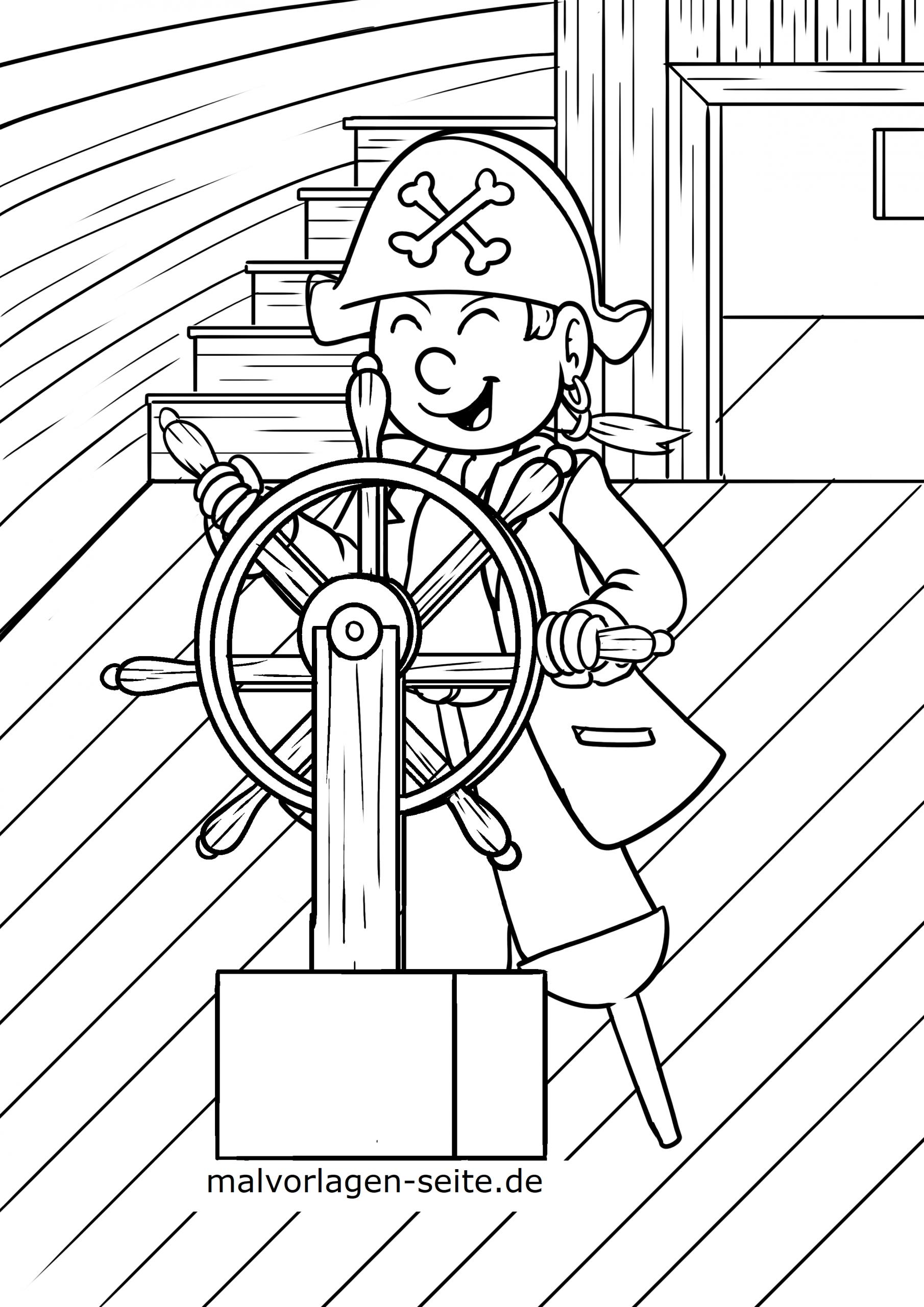 Malvorlage Pirat - Ausmalbilder Kostenlos Herunterladen in Pirat Malvorlage