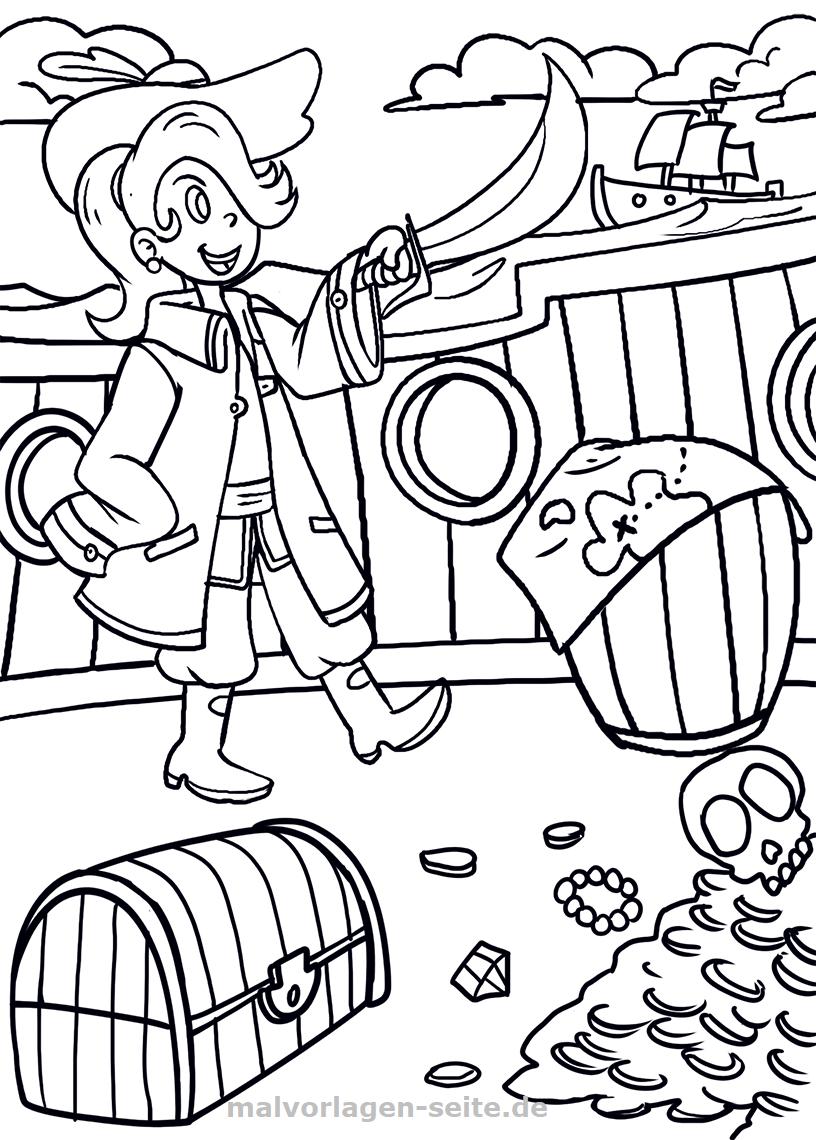Malvorlage Pirat - Ausmalbilder Kostenlos Herunterladen verwandt mit Pirat Malvorlage