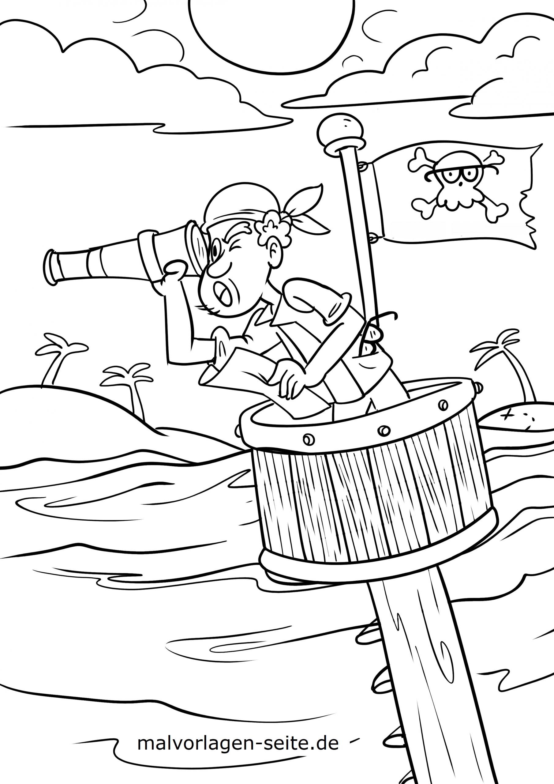 Malvorlage Pirat / Piraten - Ausmalbilder Kostenlos innen Malvorlagen Piraten
