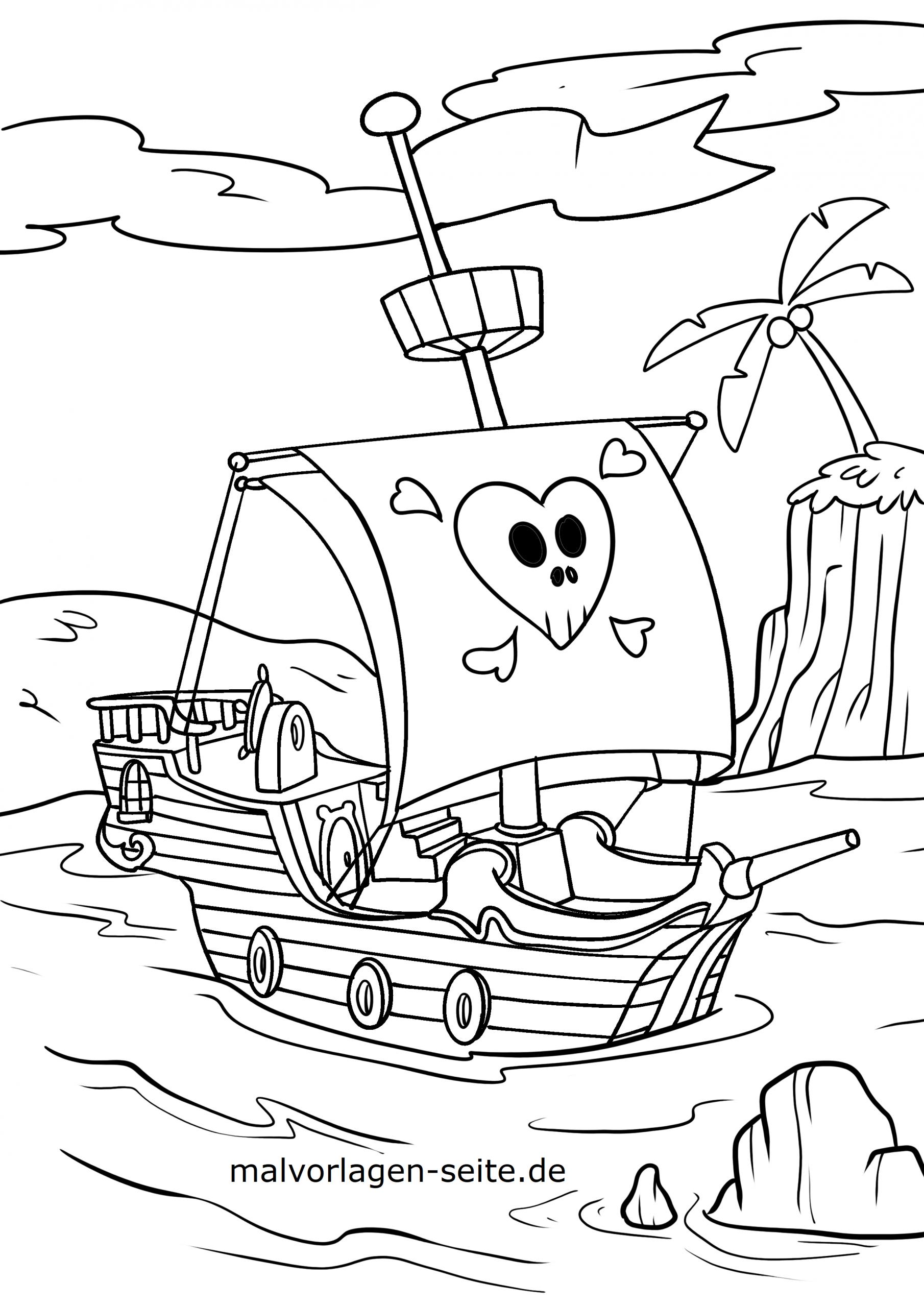 Malvorlage Piraten - Ausmalbilder Kostenlos Herunterladen in Pirat Malvorlage