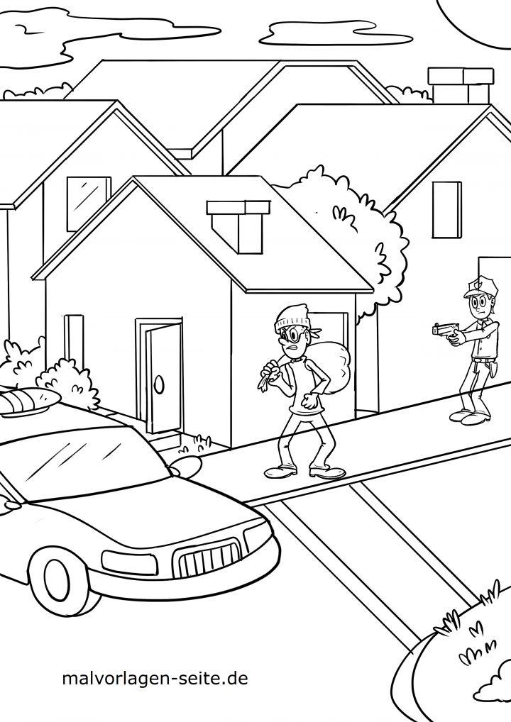 malvorlage polizei  ausmalbilder kostenlos herunterladen